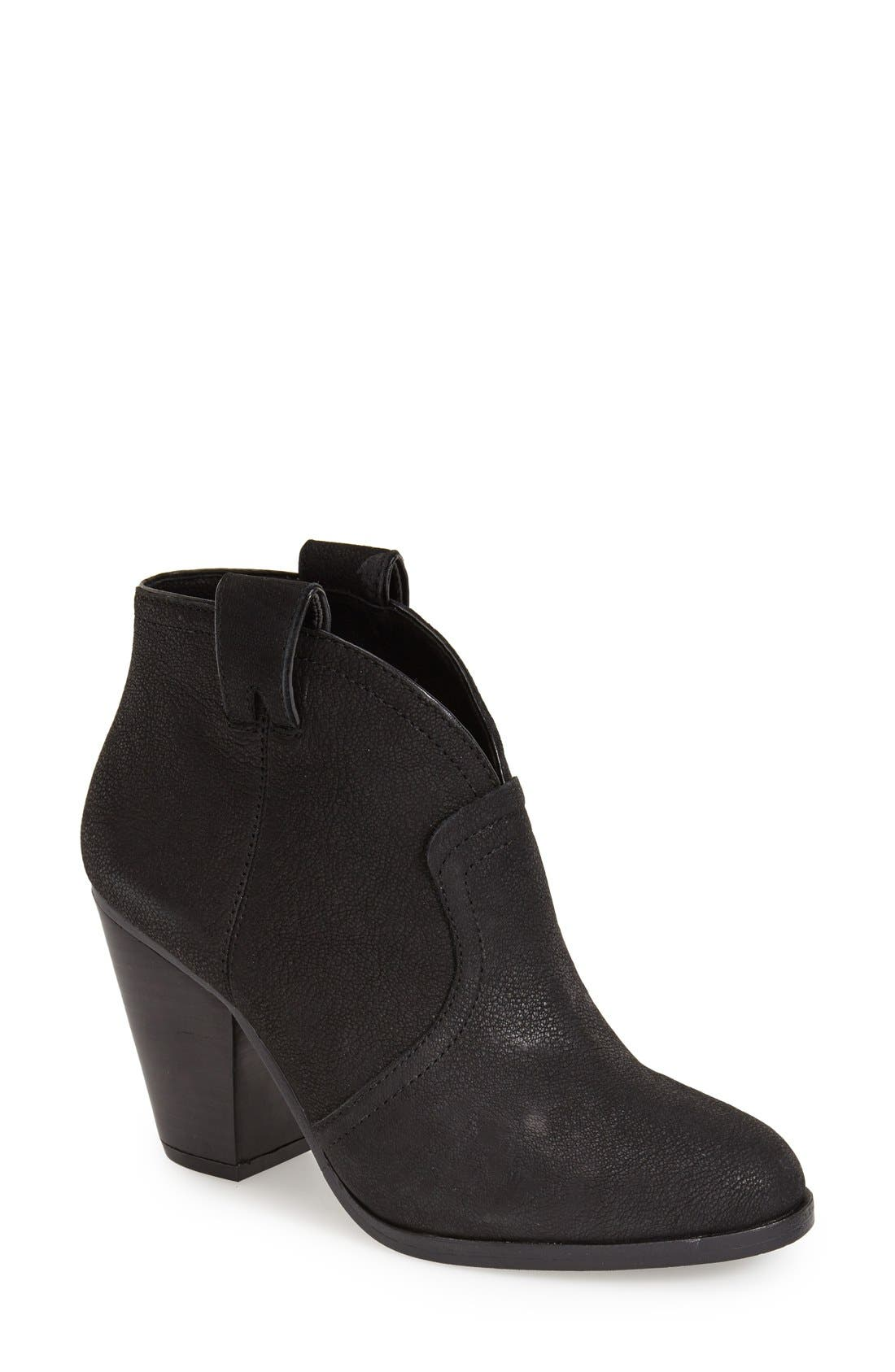 'Hillsy' Almond Toe Ankle Bootie, Main, color, 001
