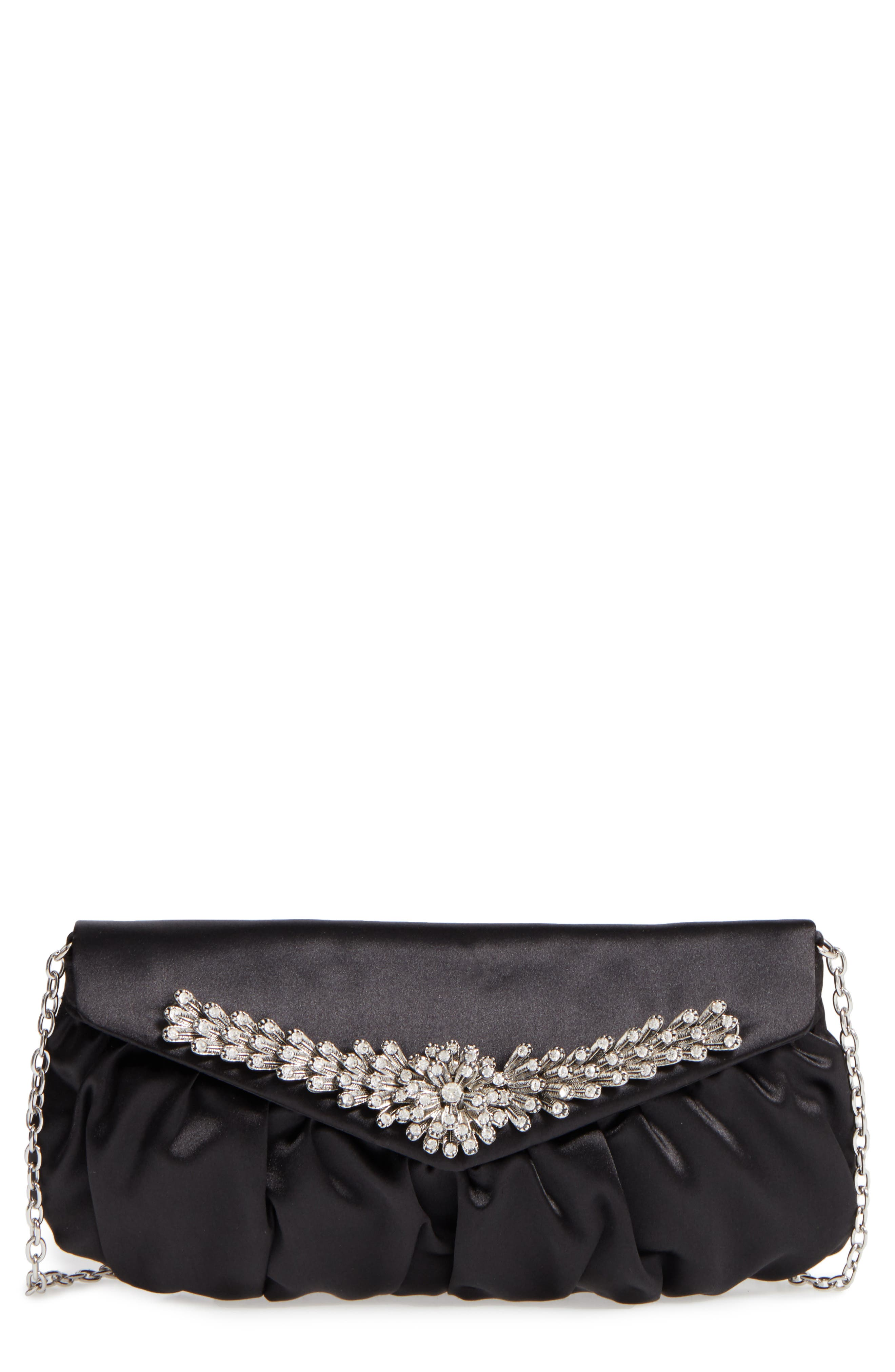 Caracas Crystal Embellished Clutch,                             Main thumbnail 1, color,                             001