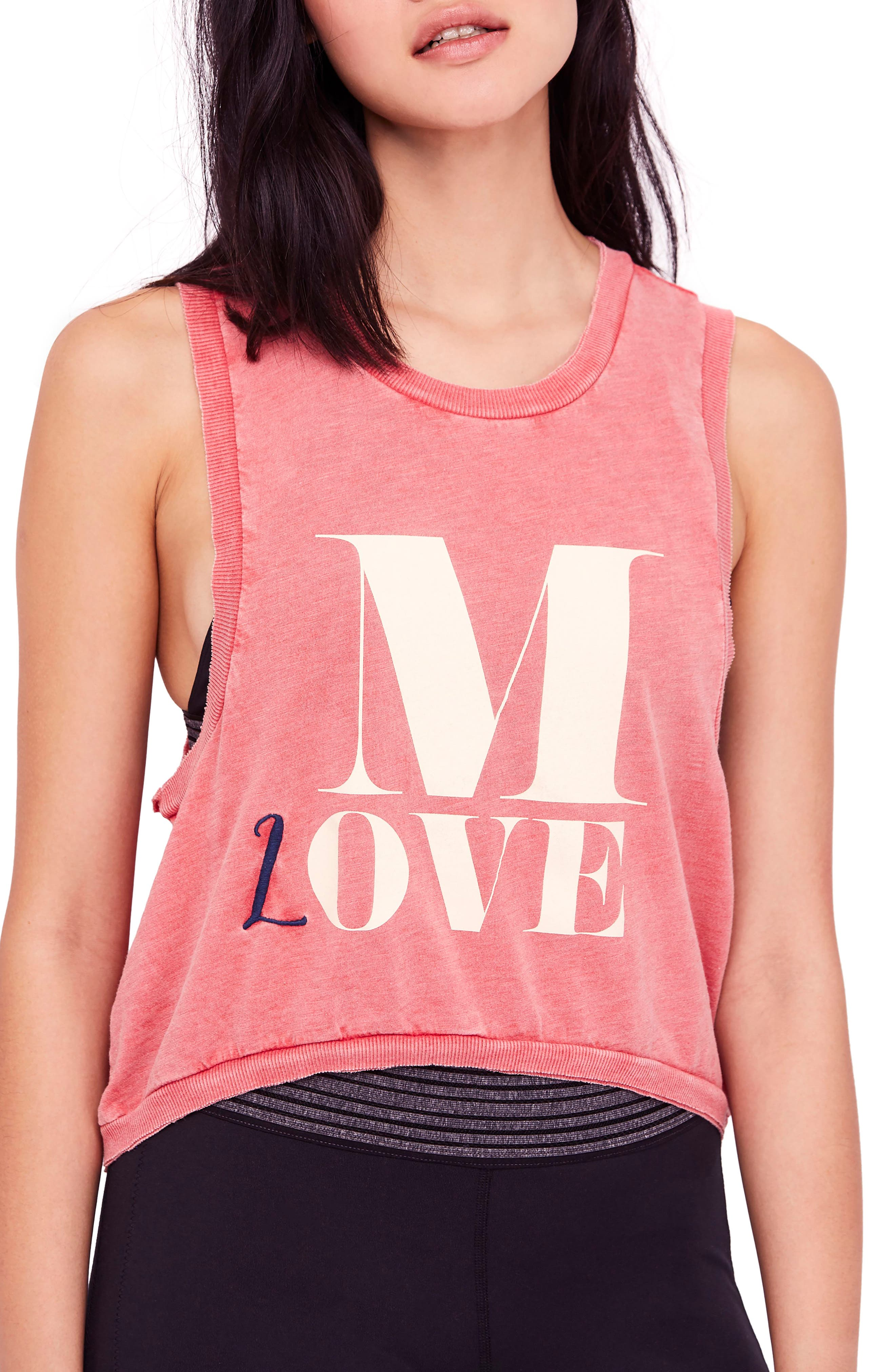 free people Move Graphic Tank,                         Main,                         color, RED