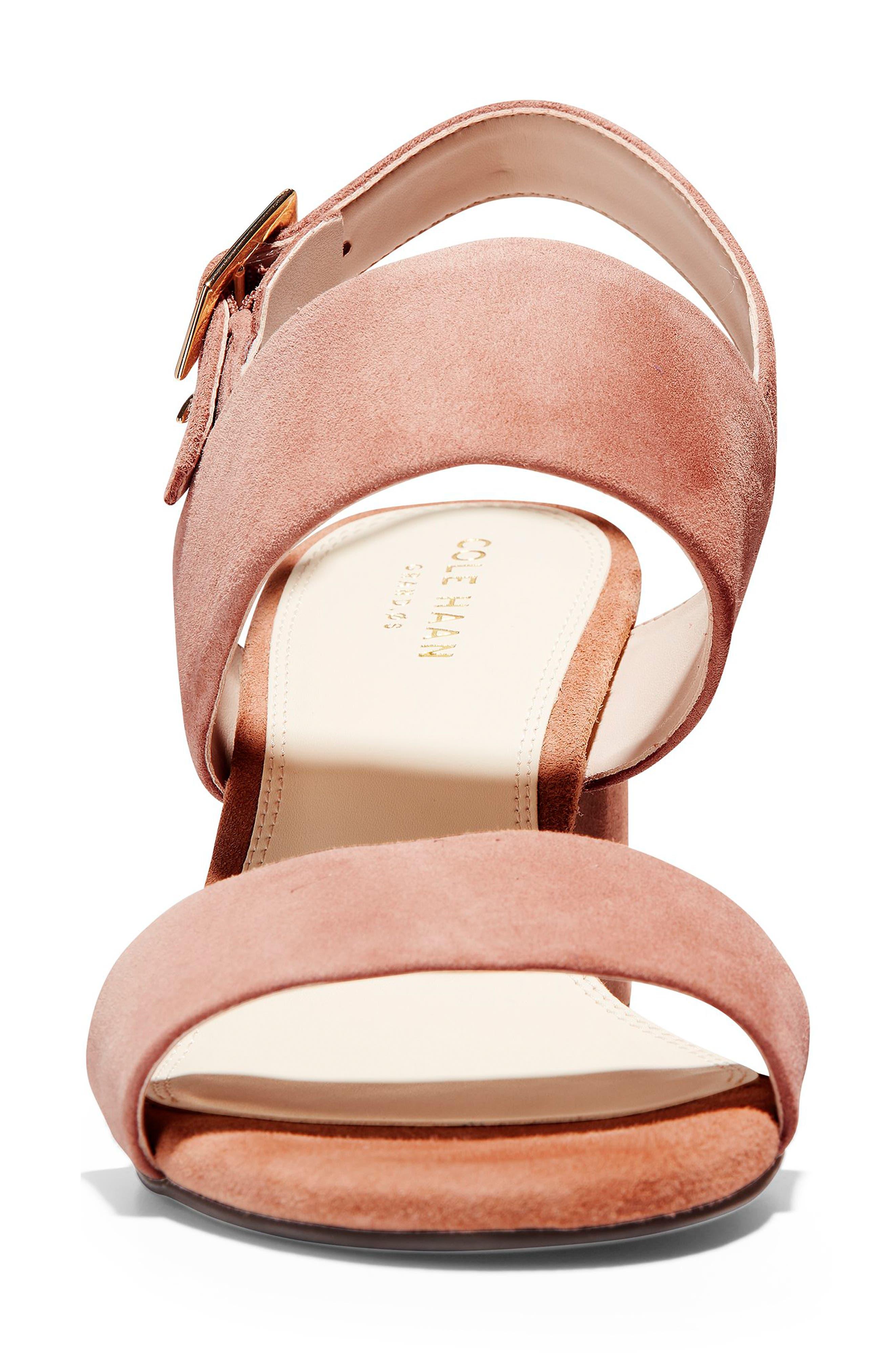 Avani Block Heel Sandal,                             Alternate thumbnail 4, color,                             MOCHA MOUSSE SUEDE