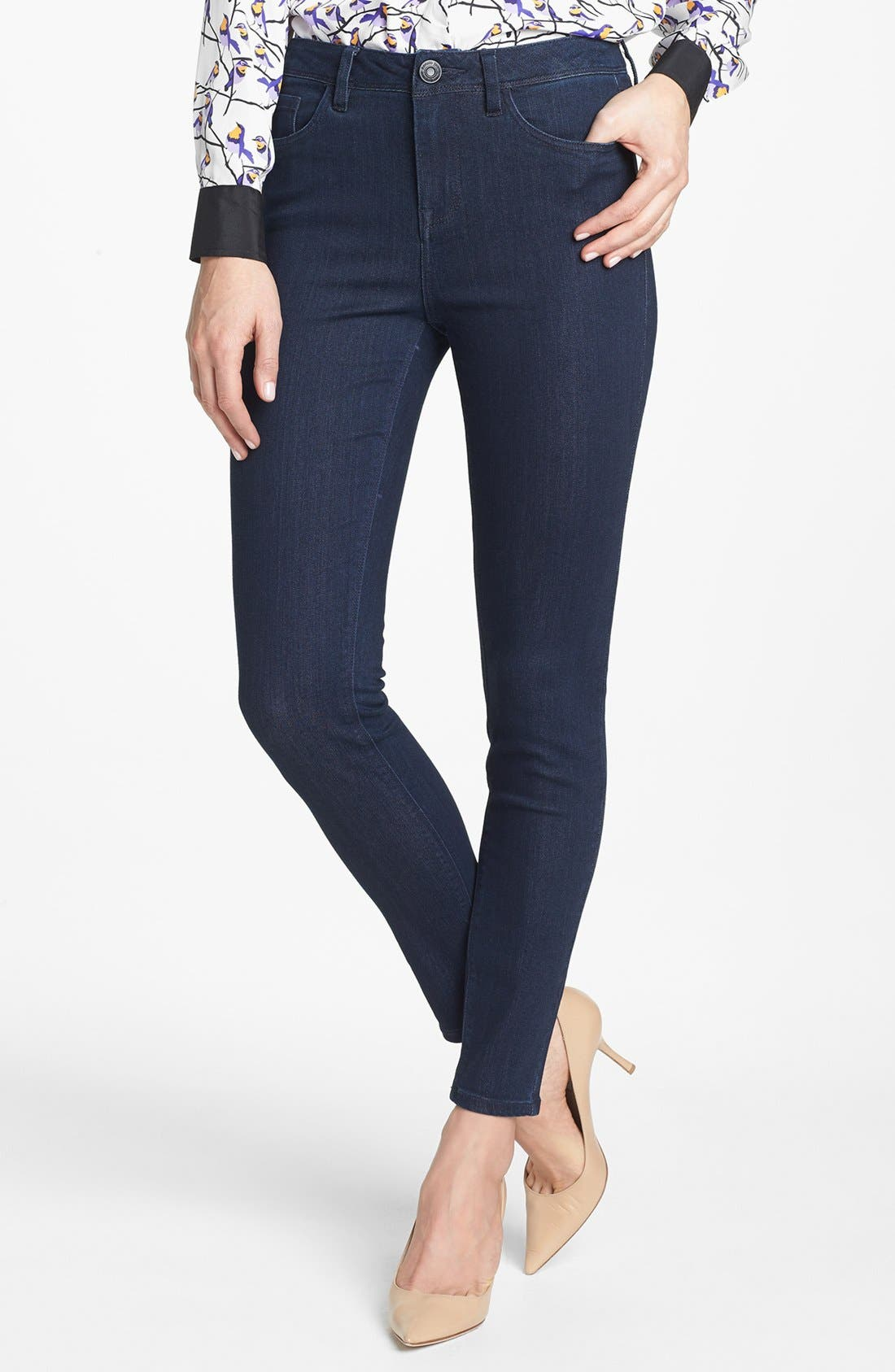 KENSIE,                             'Ankle Biter' High Rise Skinny Jeans,                             Main thumbnail 1, color,                             427