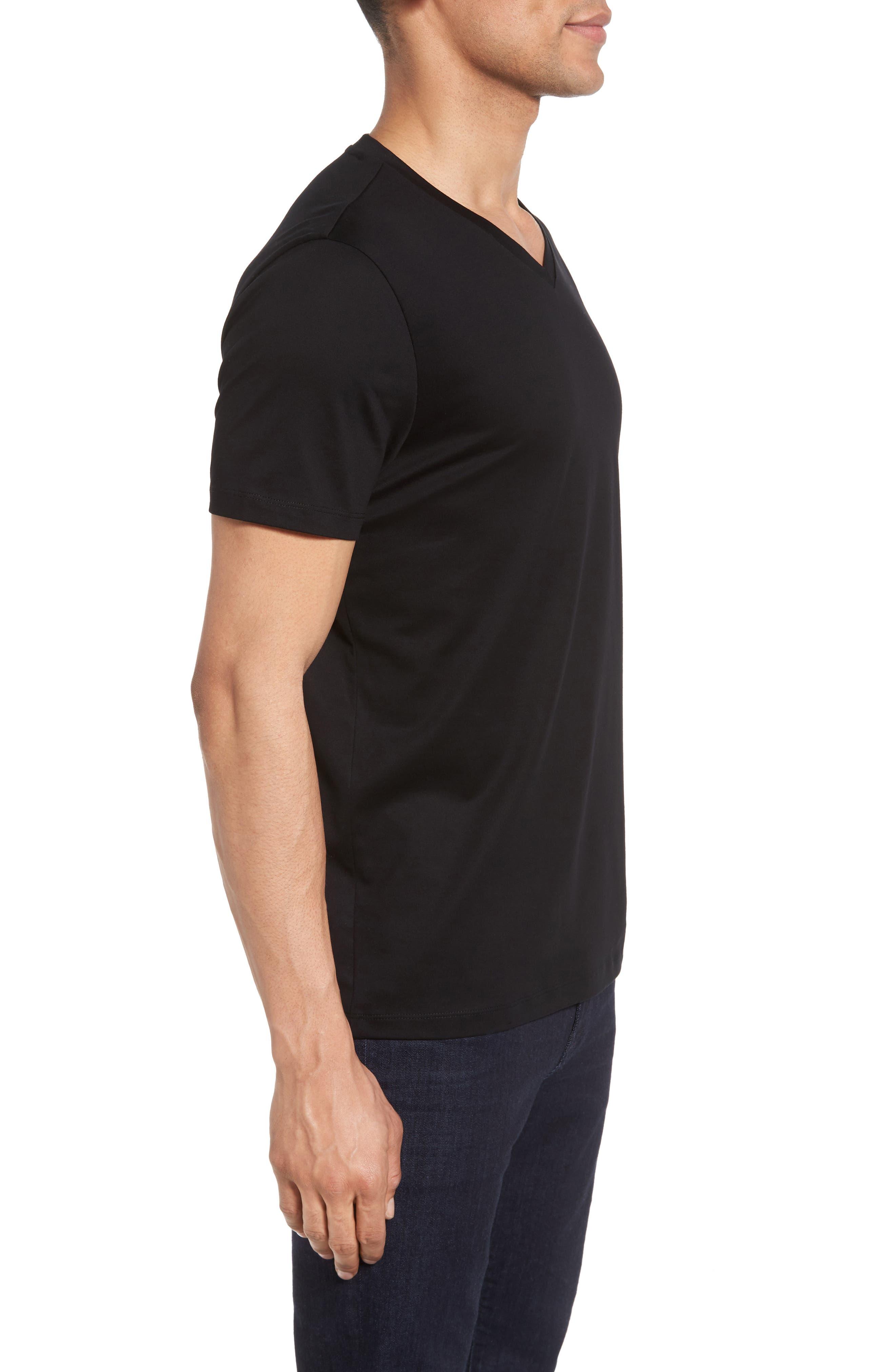 V-Neck T-Shirt,                             Alternate thumbnail 3, color,                             001