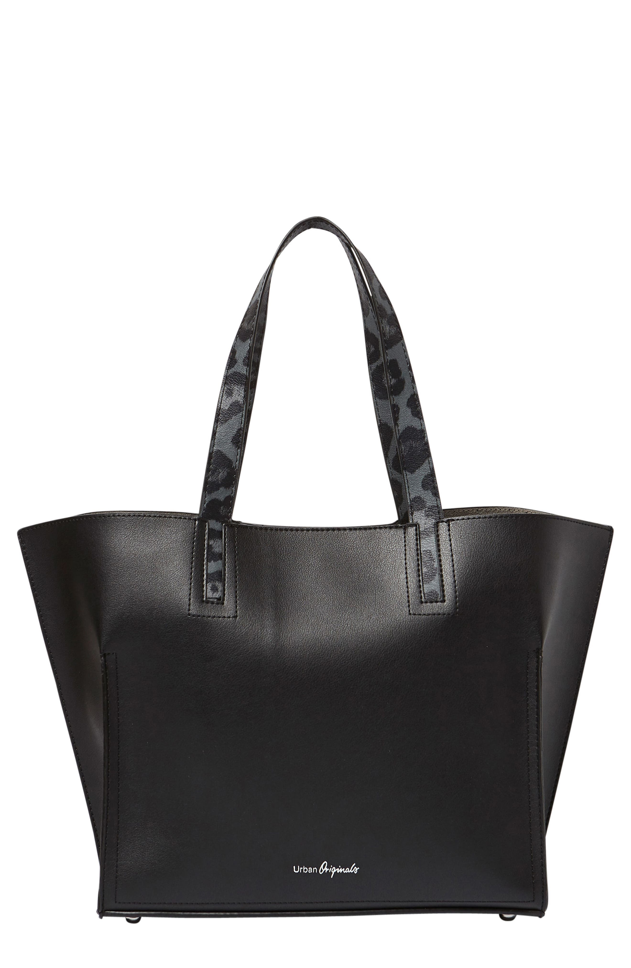 Obsession Vegan Leather Tote,                             Main thumbnail 1, color,                             001