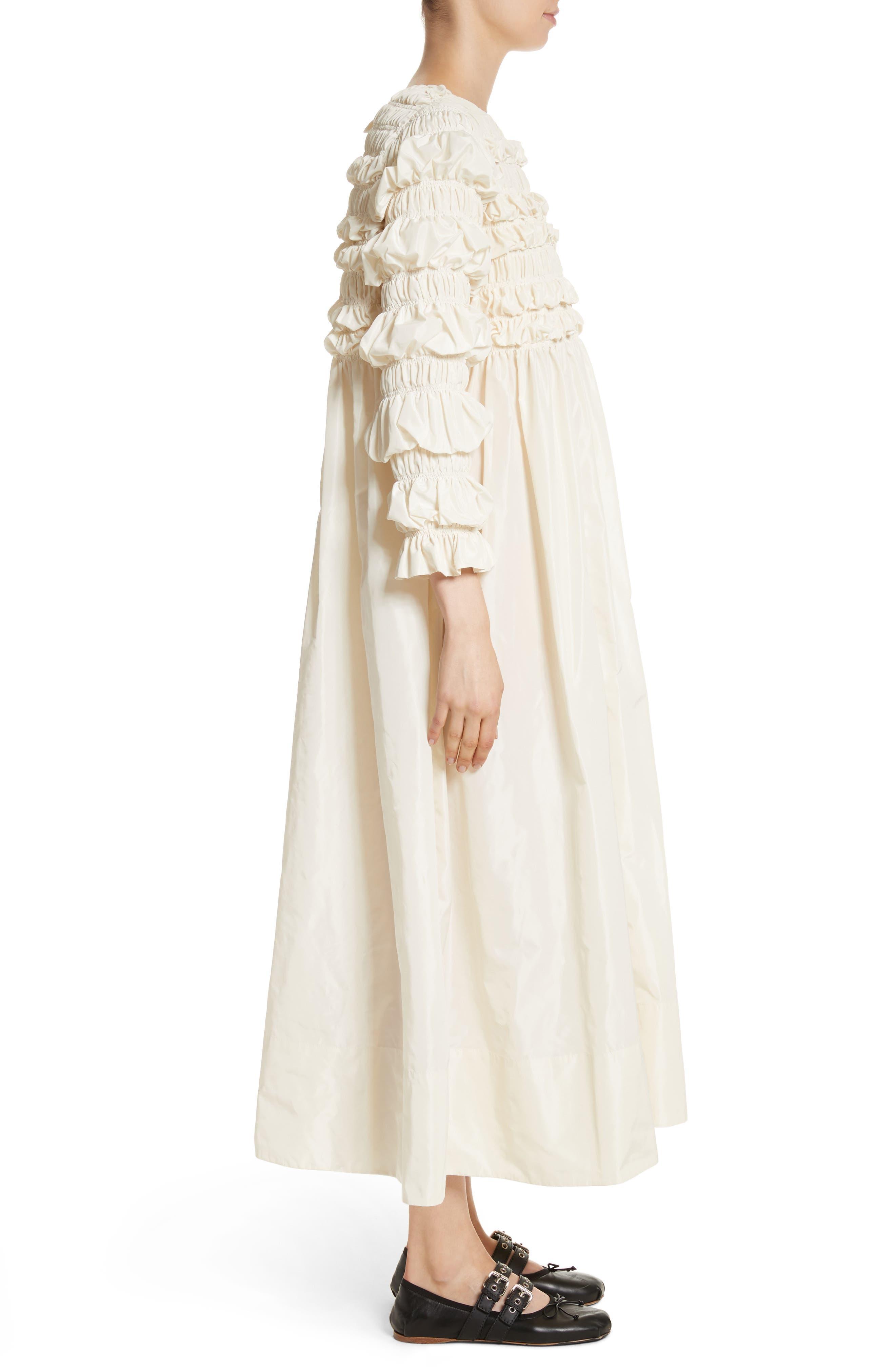 Lizzie Ruffled Taffeta Dress,                             Alternate thumbnail 3, color,                             900