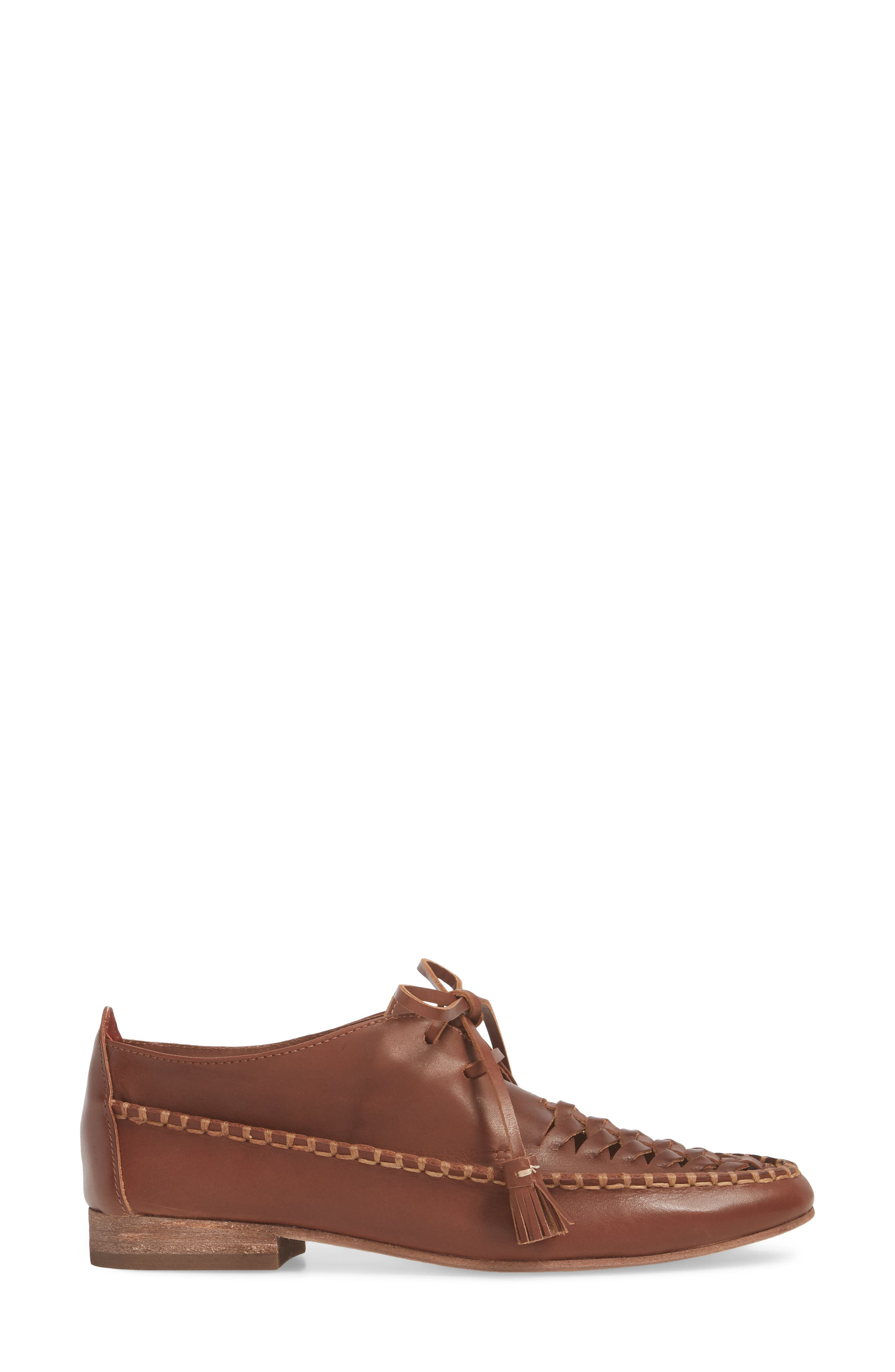 Lake Woven Loafer,                             Alternate thumbnail 3, color,                             CHESTNUT