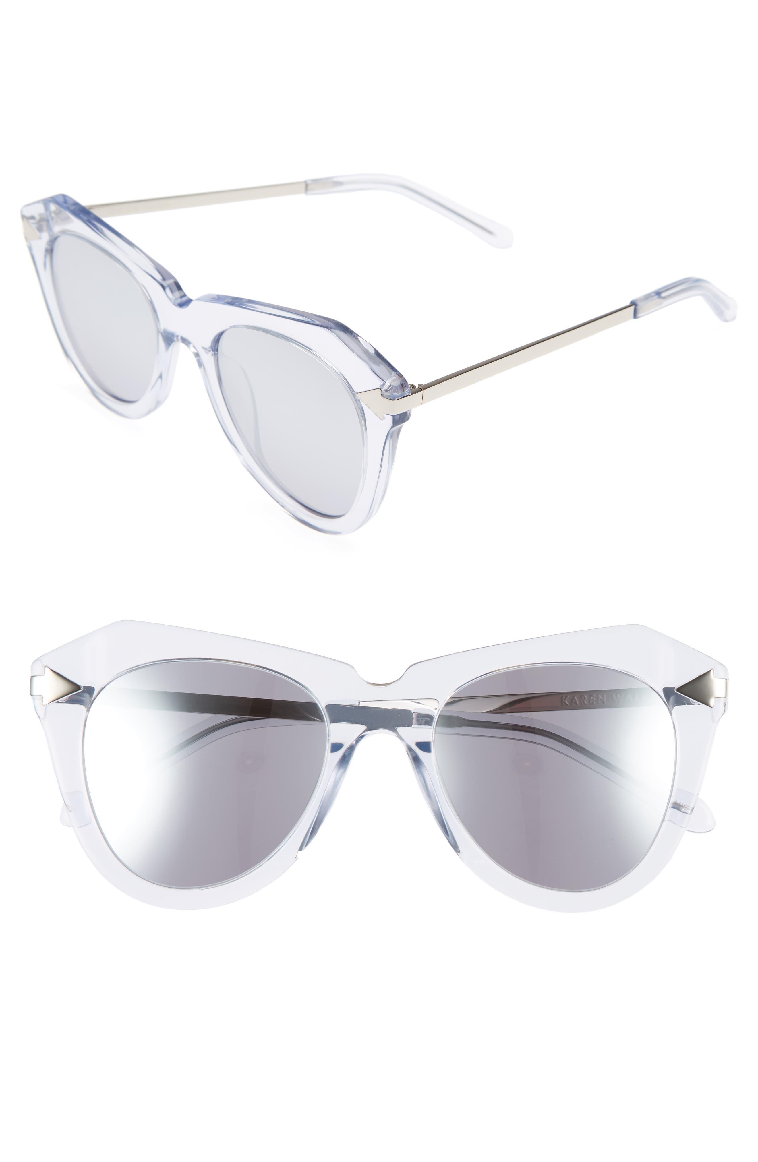 One Star 50mm Retro Sunglasses,                         Main,                         color, 100