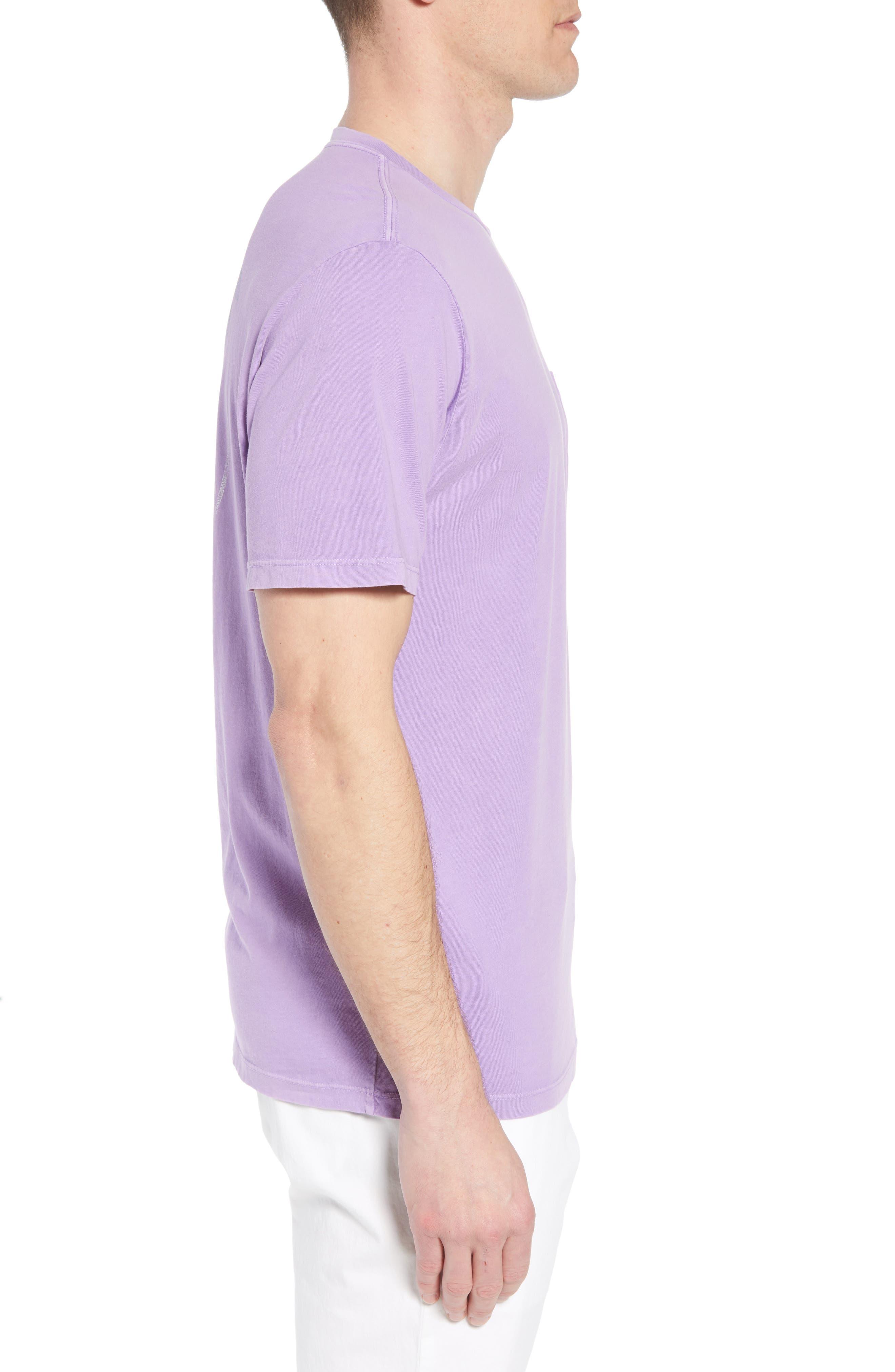 Tropical Crest Pima Cotton Pocket T-Shirt,                             Alternate thumbnail 3, color,