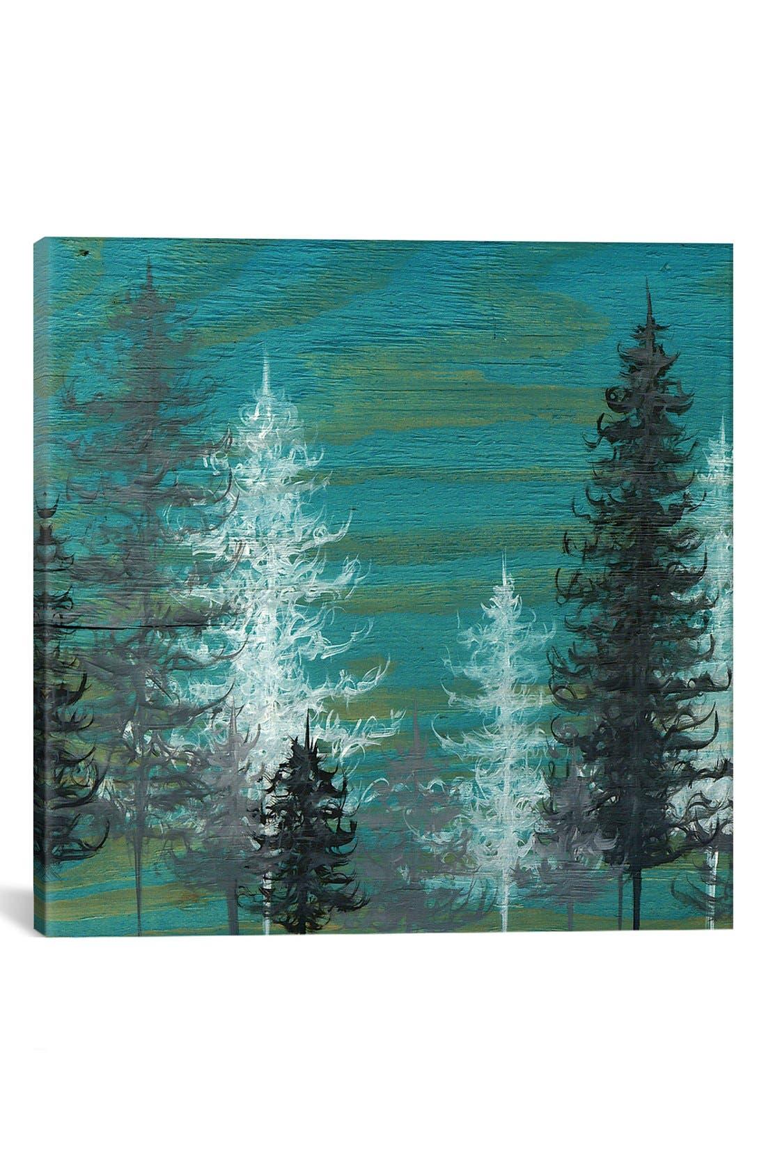 'Teal Trees' Giclée Print Canvas Art,                             Main thumbnail 1, color,