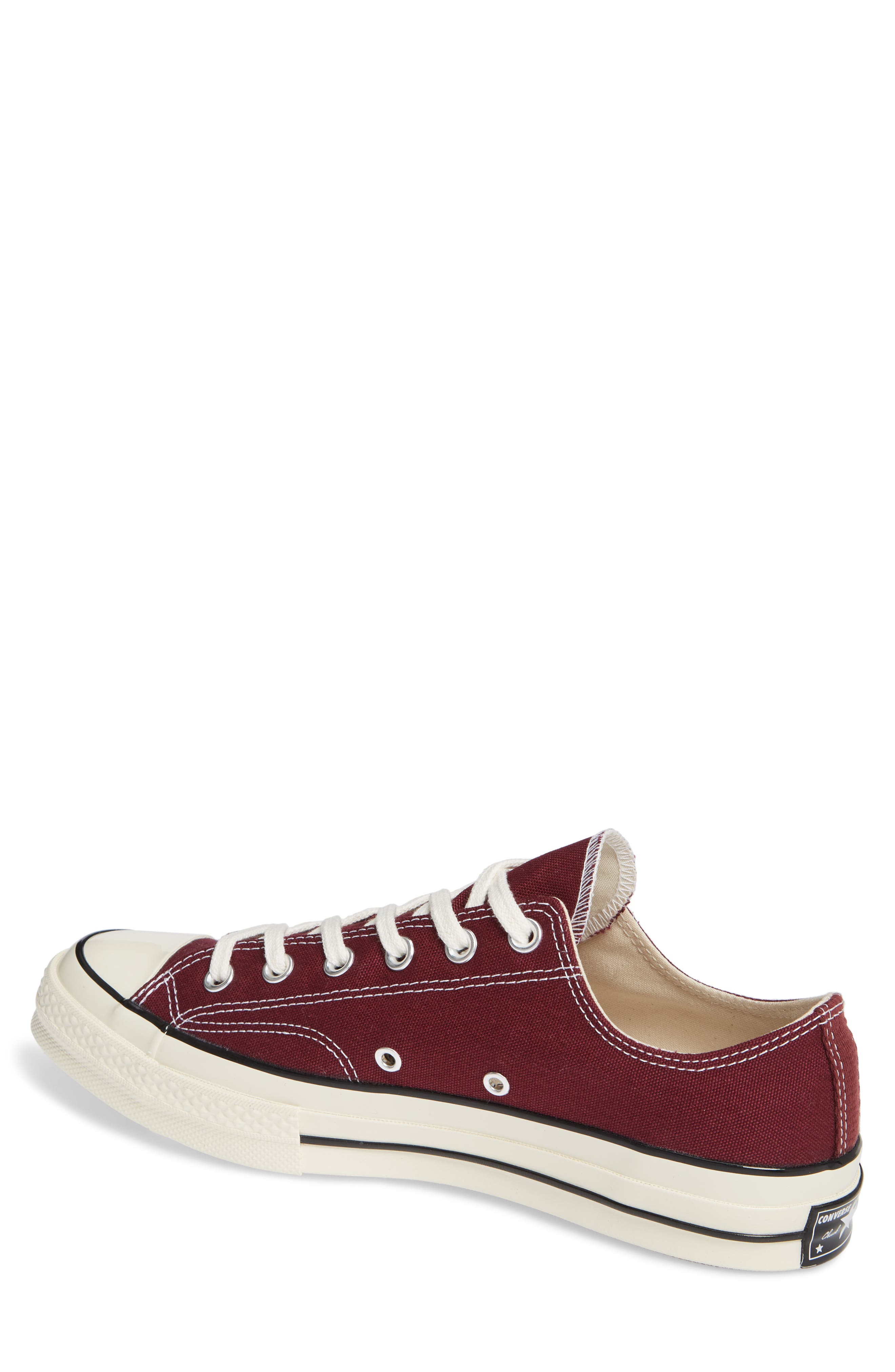 Chuck Taylor<sup>®</sup> All Star<sup>®</sup> 70 Low Top Sneaker,                             Alternate thumbnail 2, color,                             BURGUNDY