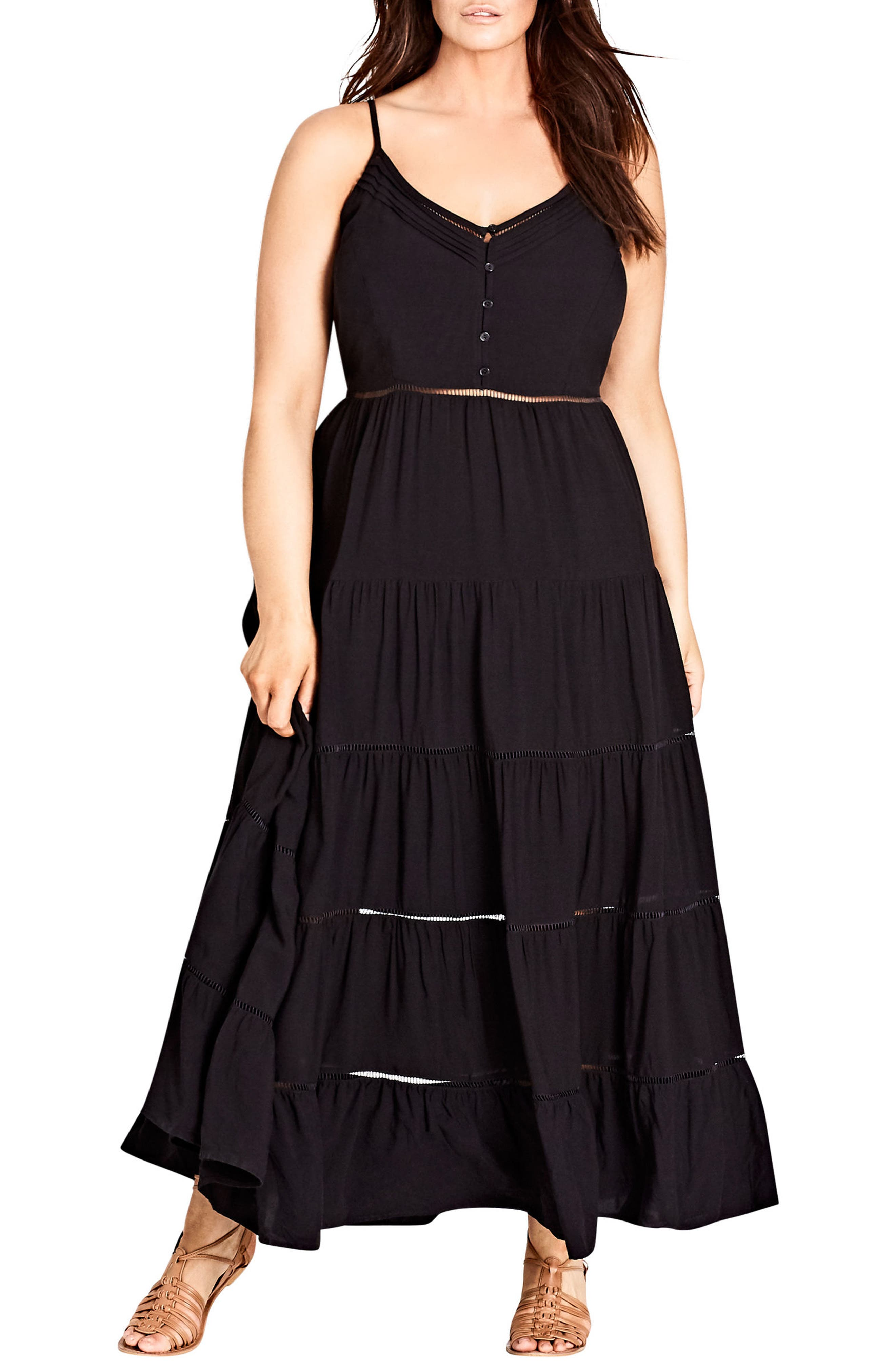 Festival Maxi Dress,                             Main thumbnail 1, color,                             BLACK