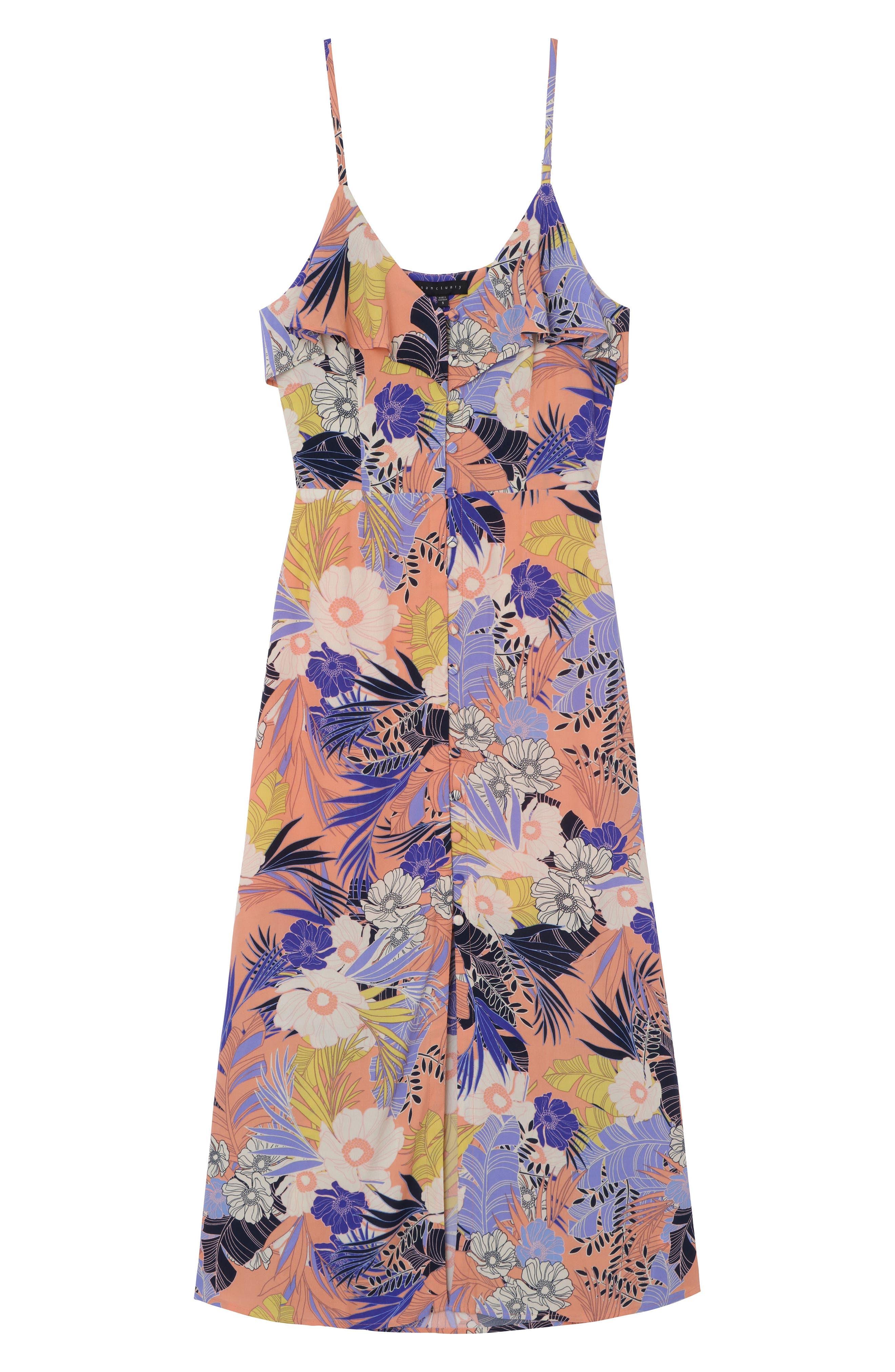 Isabella Print Maxi Dress,                             Alternate thumbnail 4, color,                             952