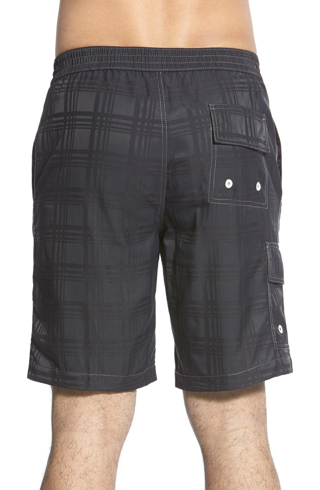 Baja Plaid Swim Trunks,                             Alternate thumbnail 2, color,                             001