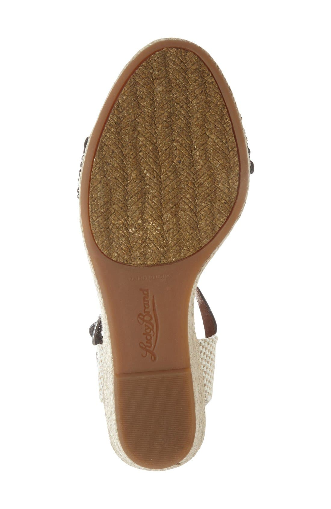 'Katereena' Wedge Sandal,                             Alternate thumbnail 2, color,                             001