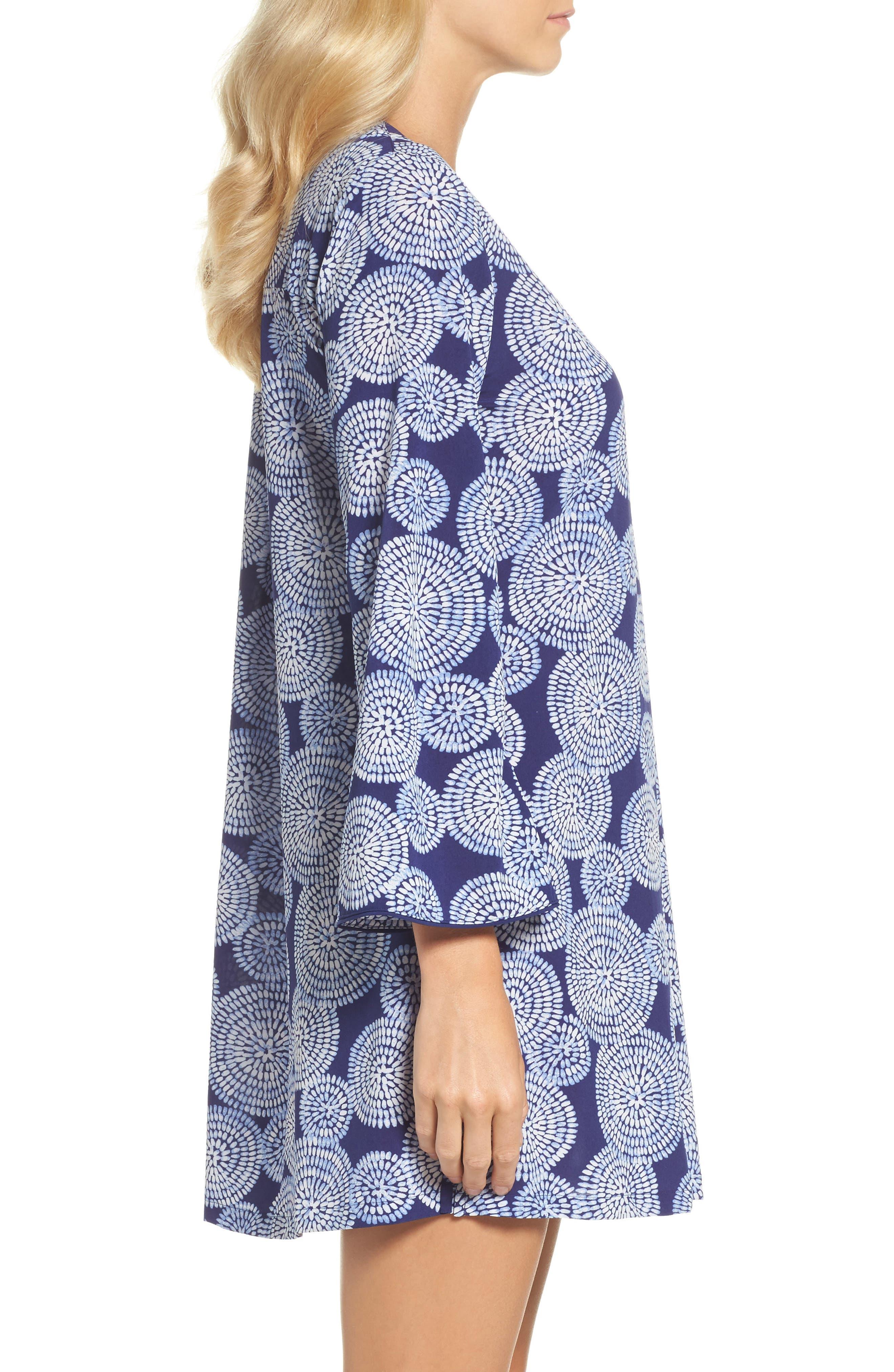 Sleepwear Halftan Short Nightgown,                             Alternate thumbnail 3, color,                             498
