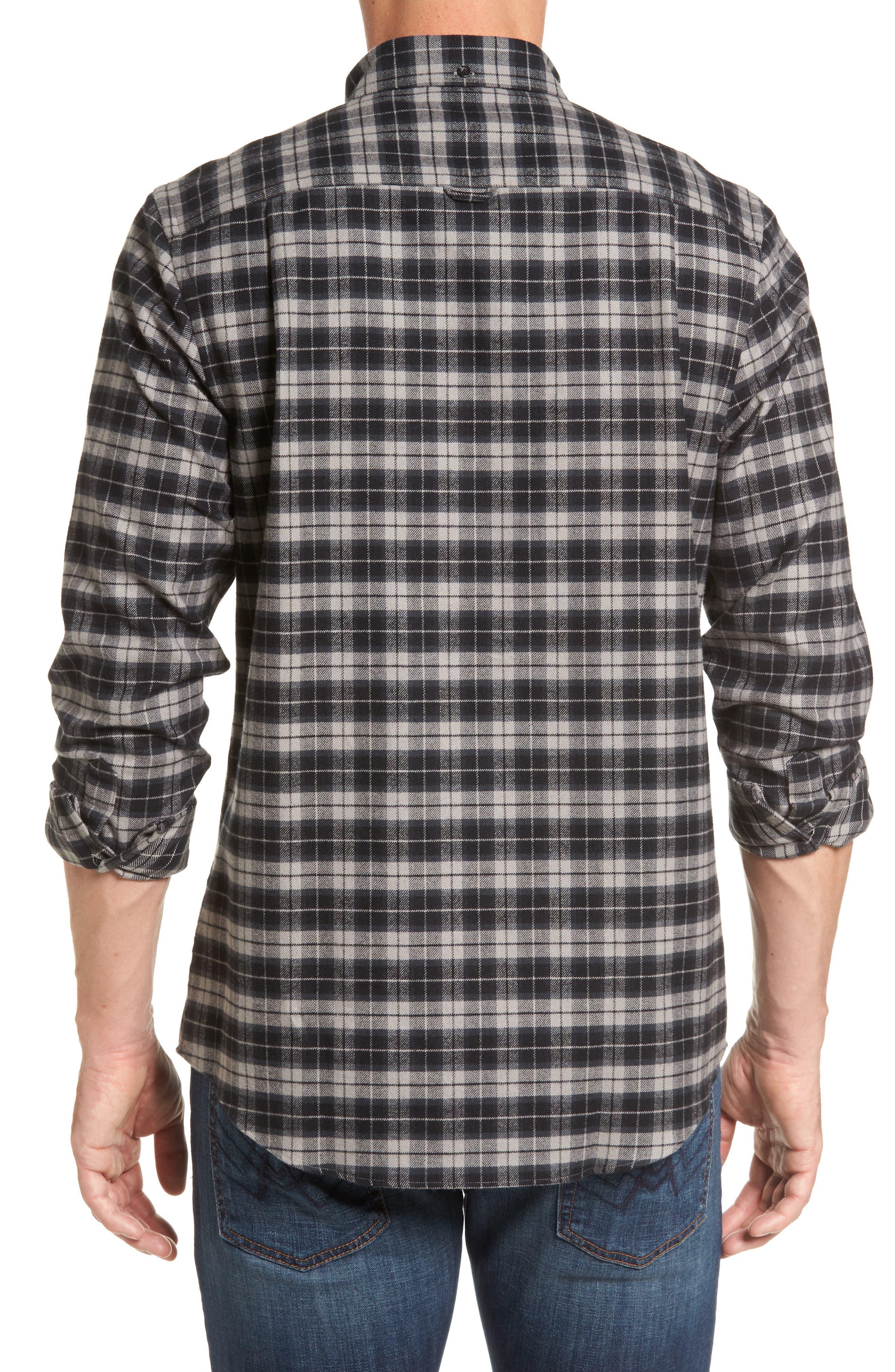 Regular Fit Plaid Sport Shirt,                             Alternate thumbnail 2, color,                             030