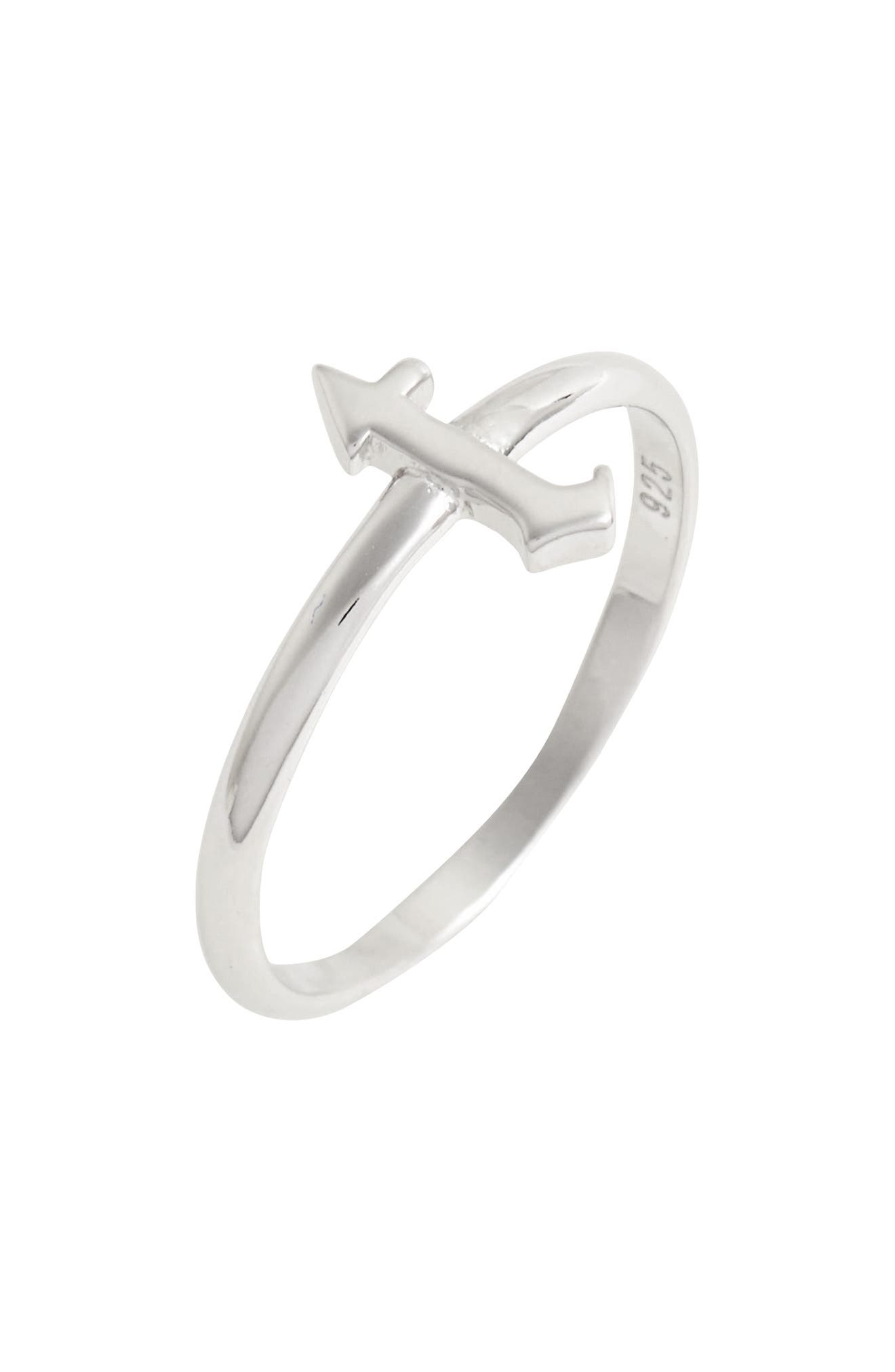 Gothic Initial Ring,                             Main thumbnail 14, color,