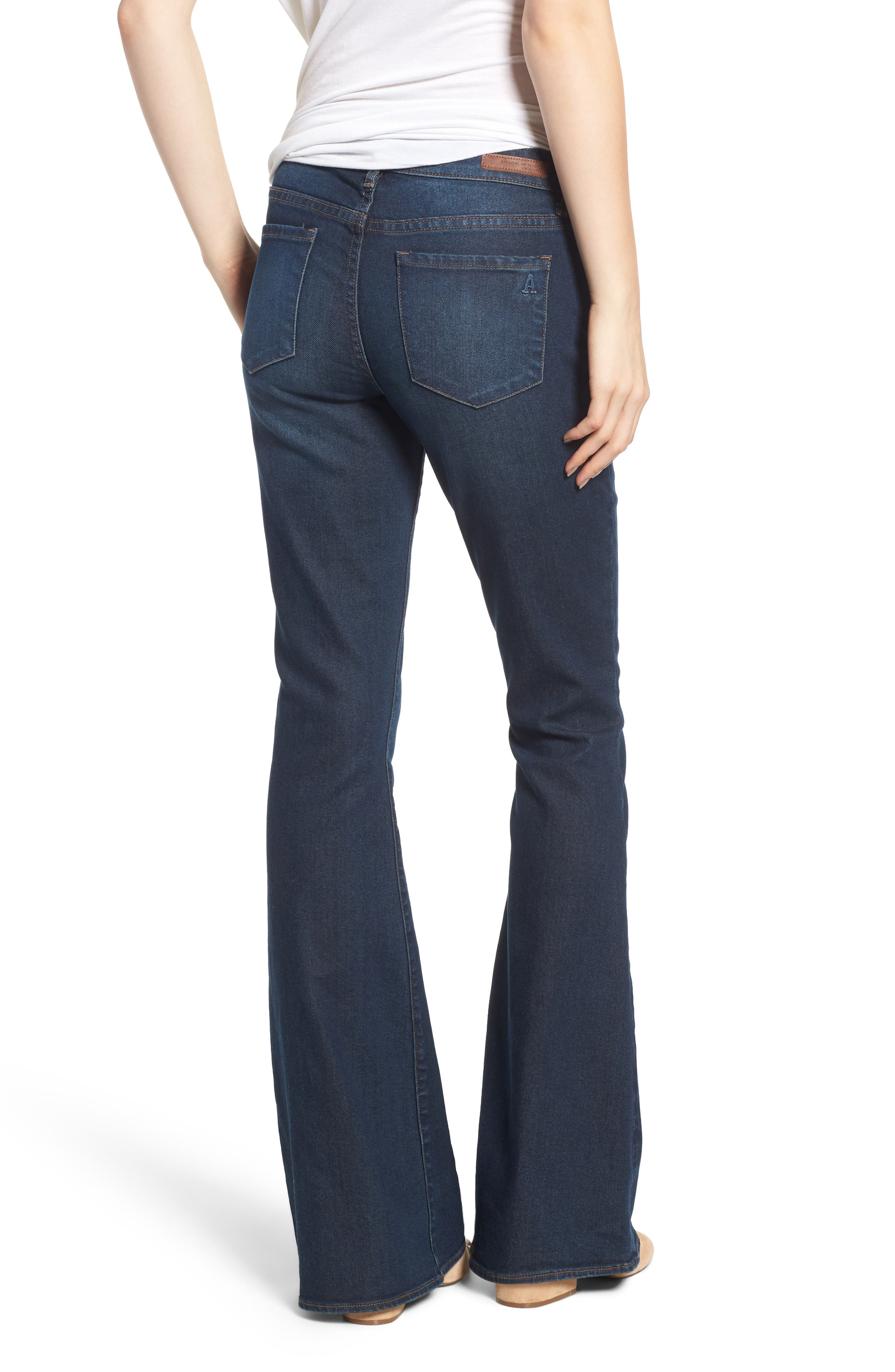 Faith Flare Jeans,                             Alternate thumbnail 2, color,                             NORTHPORT DARK WASH