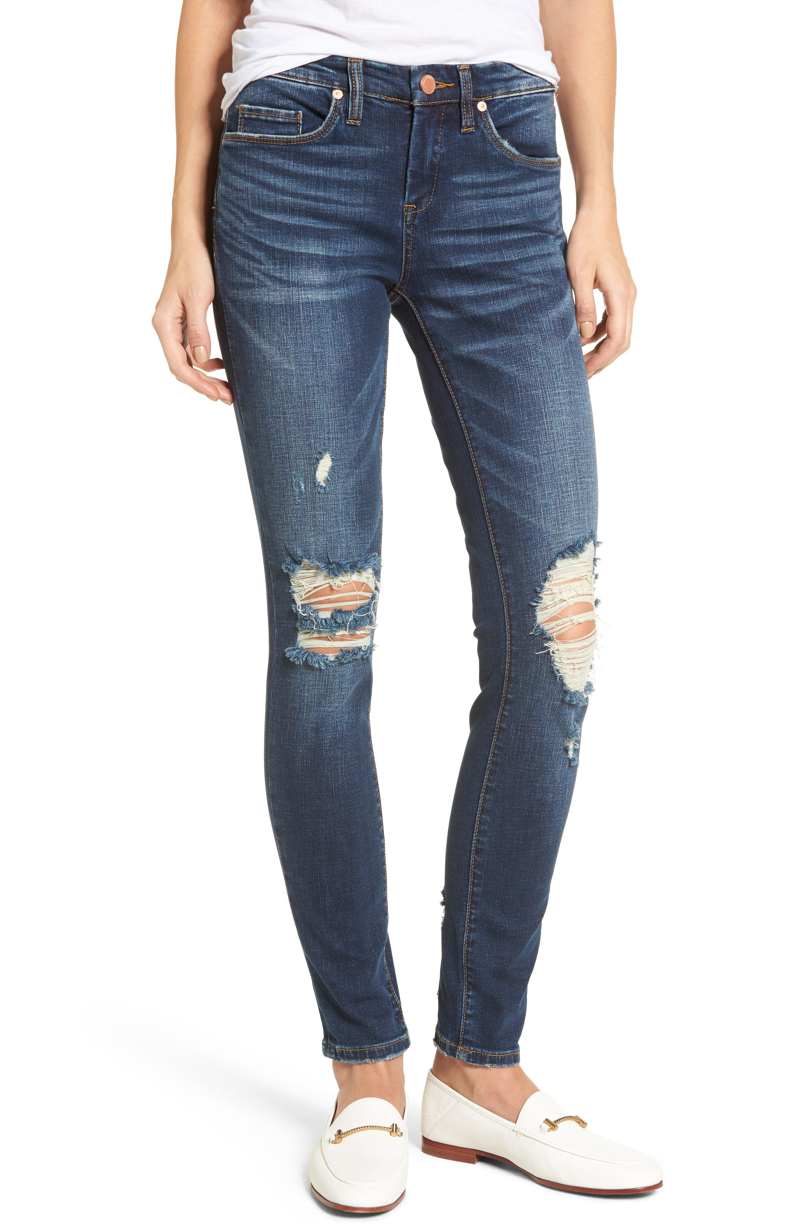 Decon Cult Classic Skinny Jeans,                             Main thumbnail 1, color,                             400