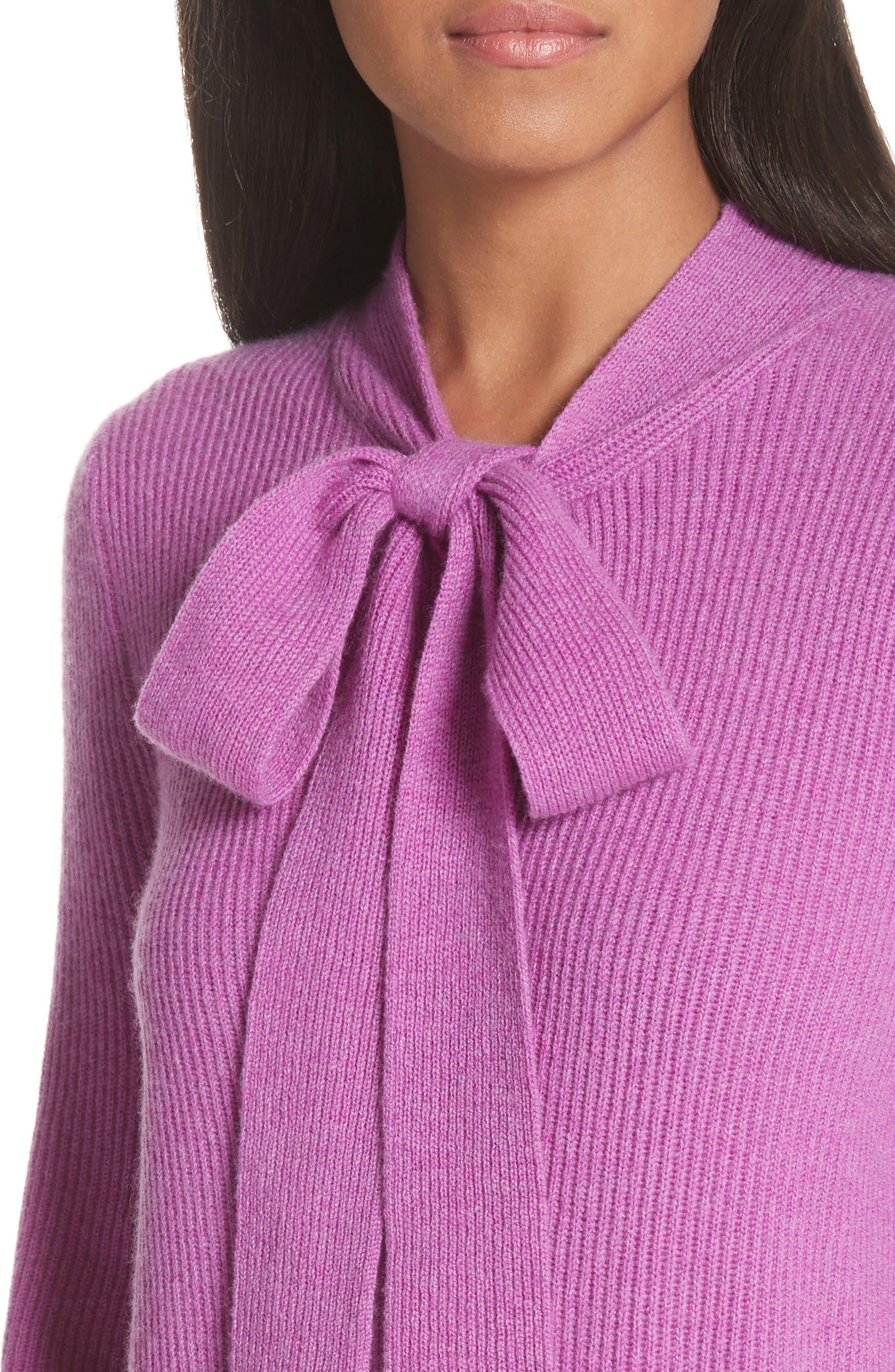 CO,                             Tie Neck Cashmere Sweater,                             Alternate thumbnail 4, color,                             679