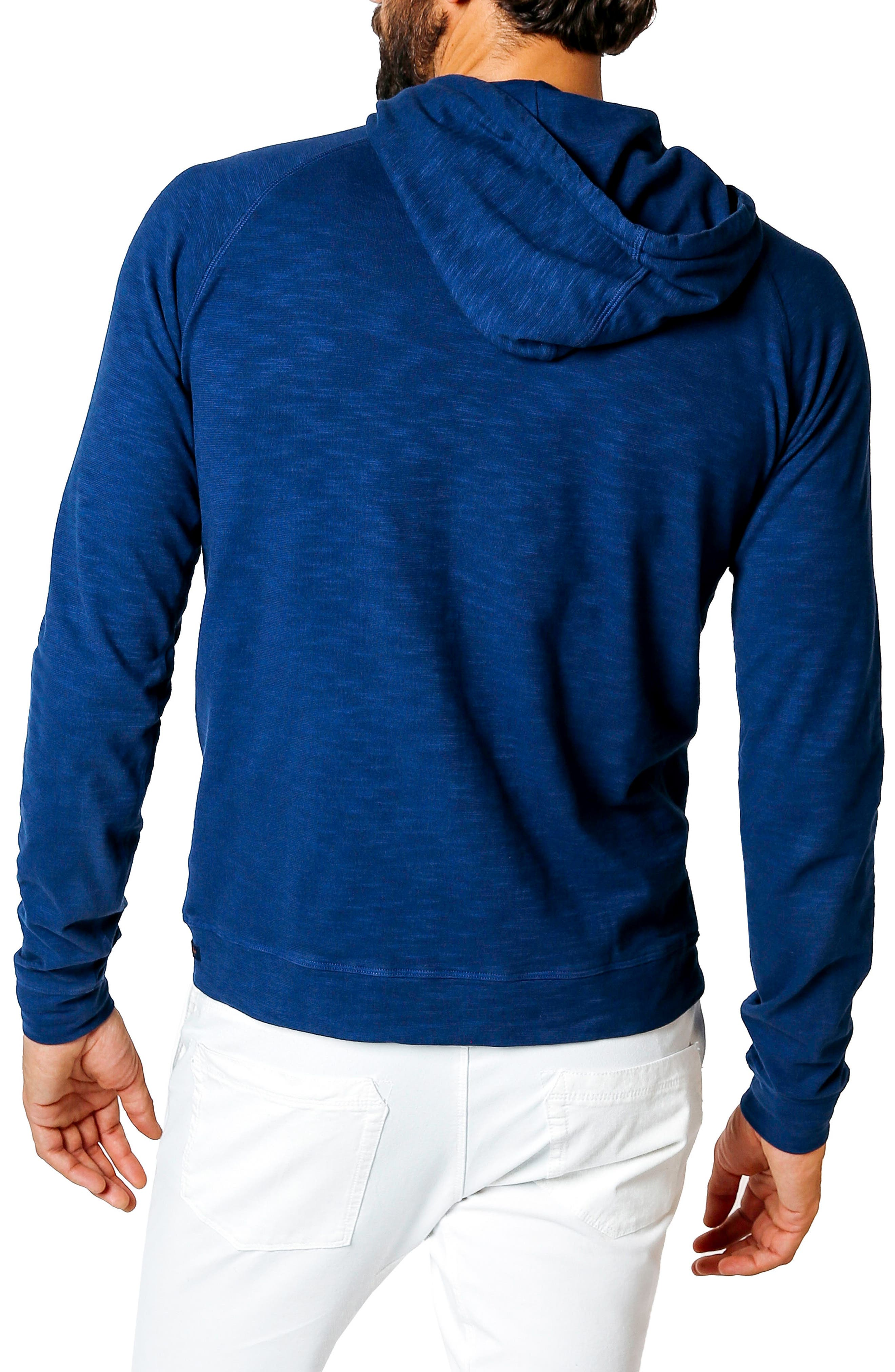 Trim Fit Pullover Hoodie,                             Alternate thumbnail 2, color,                             100