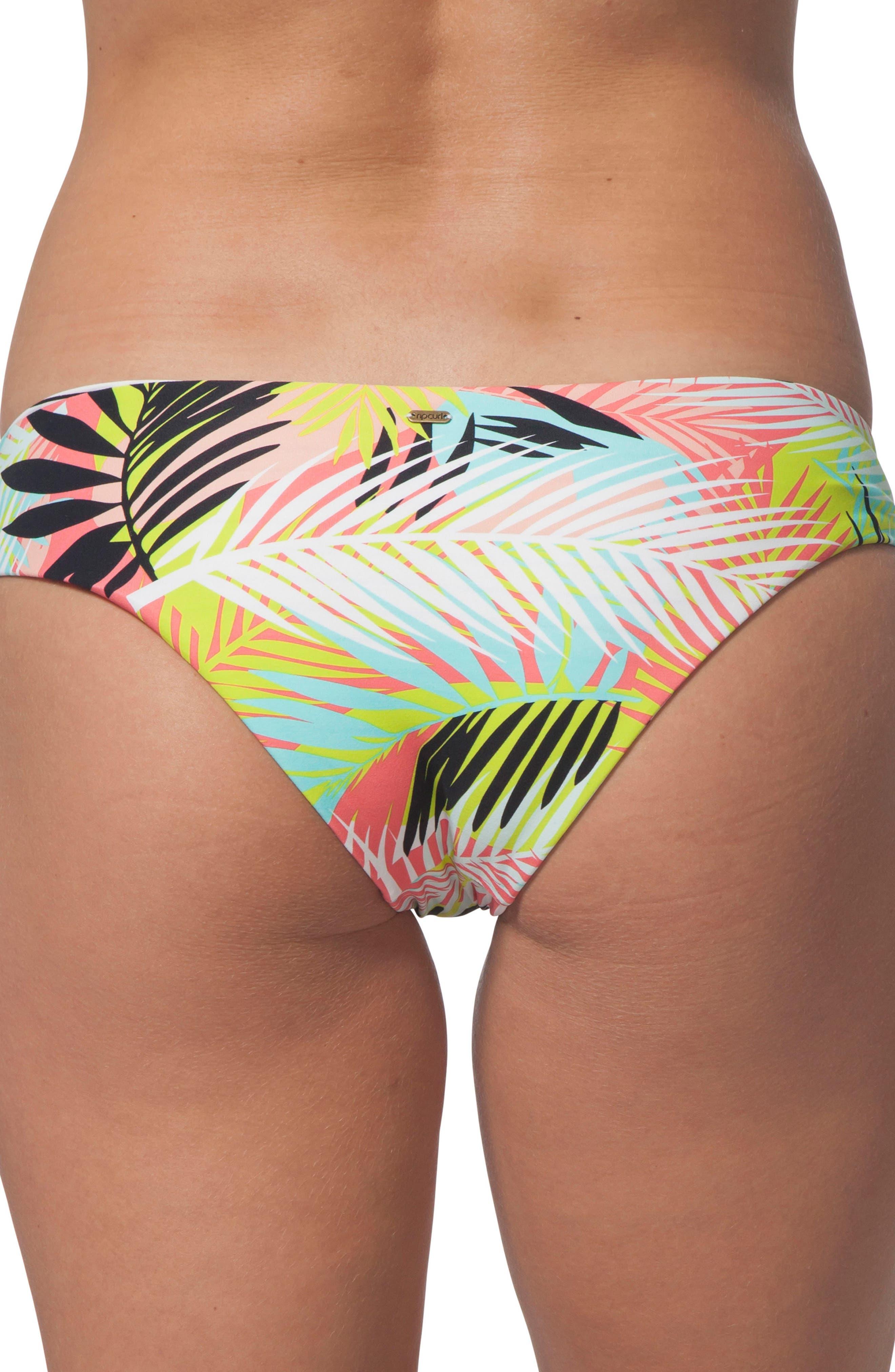 Miami Vibes Reversible Hipster Bikini Bottoms,                             Alternate thumbnail 2, color,                             WHITE MULTI