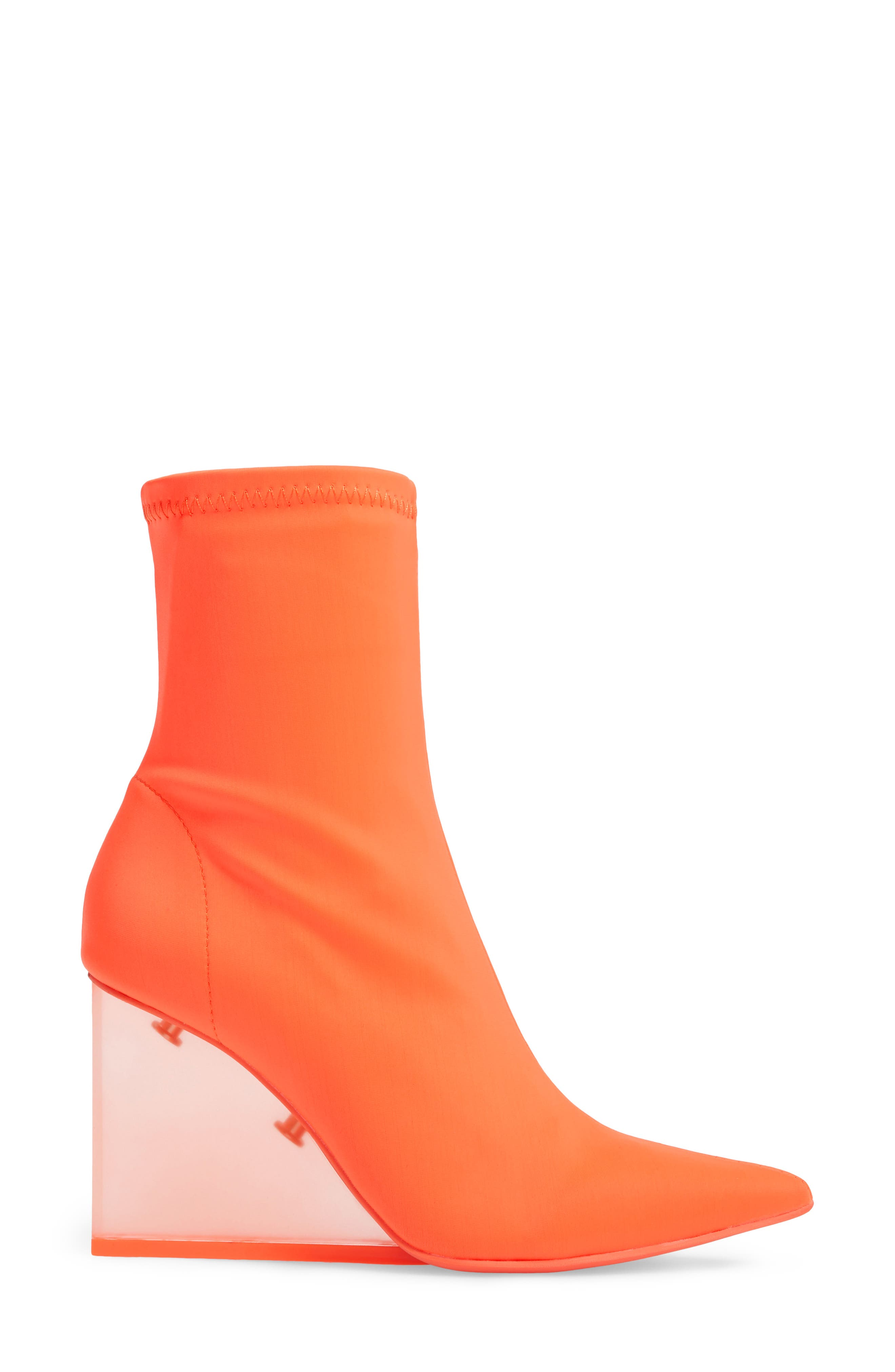 Siren Clear Wedge Sock Bootie,                             Alternate thumbnail 9, color,