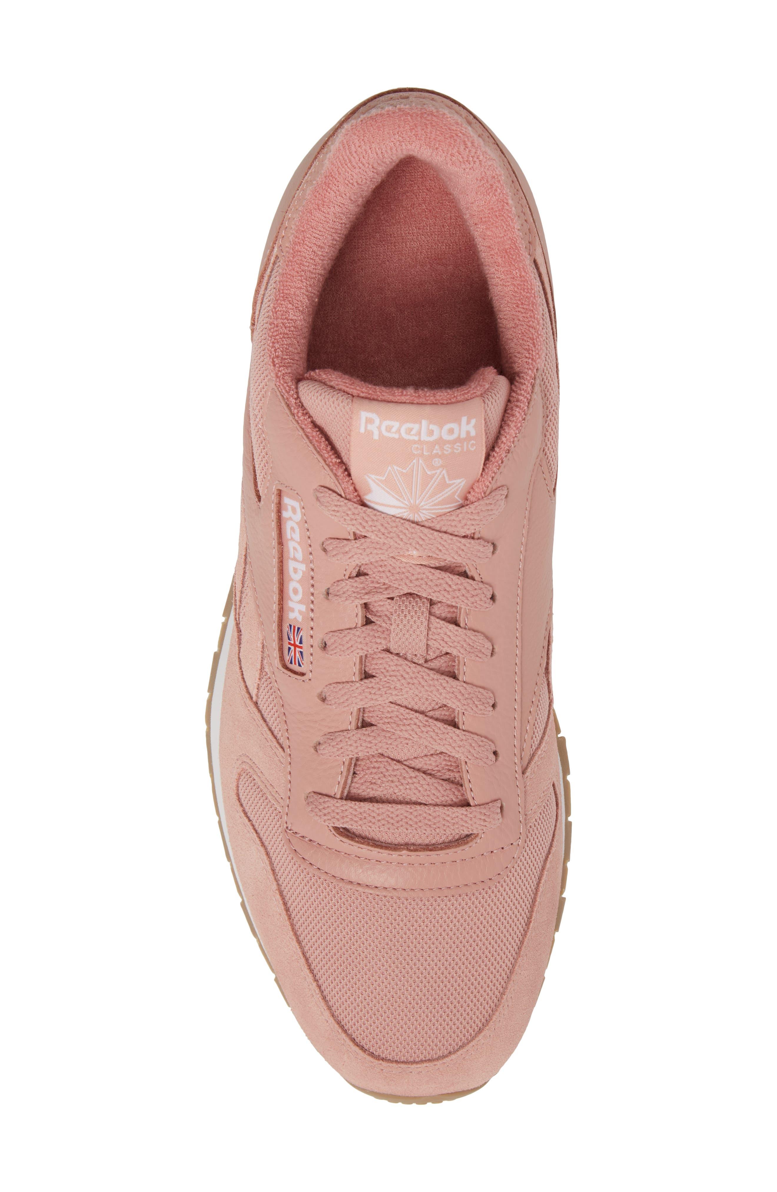 ESTL Classic Leather Sneaker,                             Alternate thumbnail 5, color,                             CHALK PINK/ WHITE