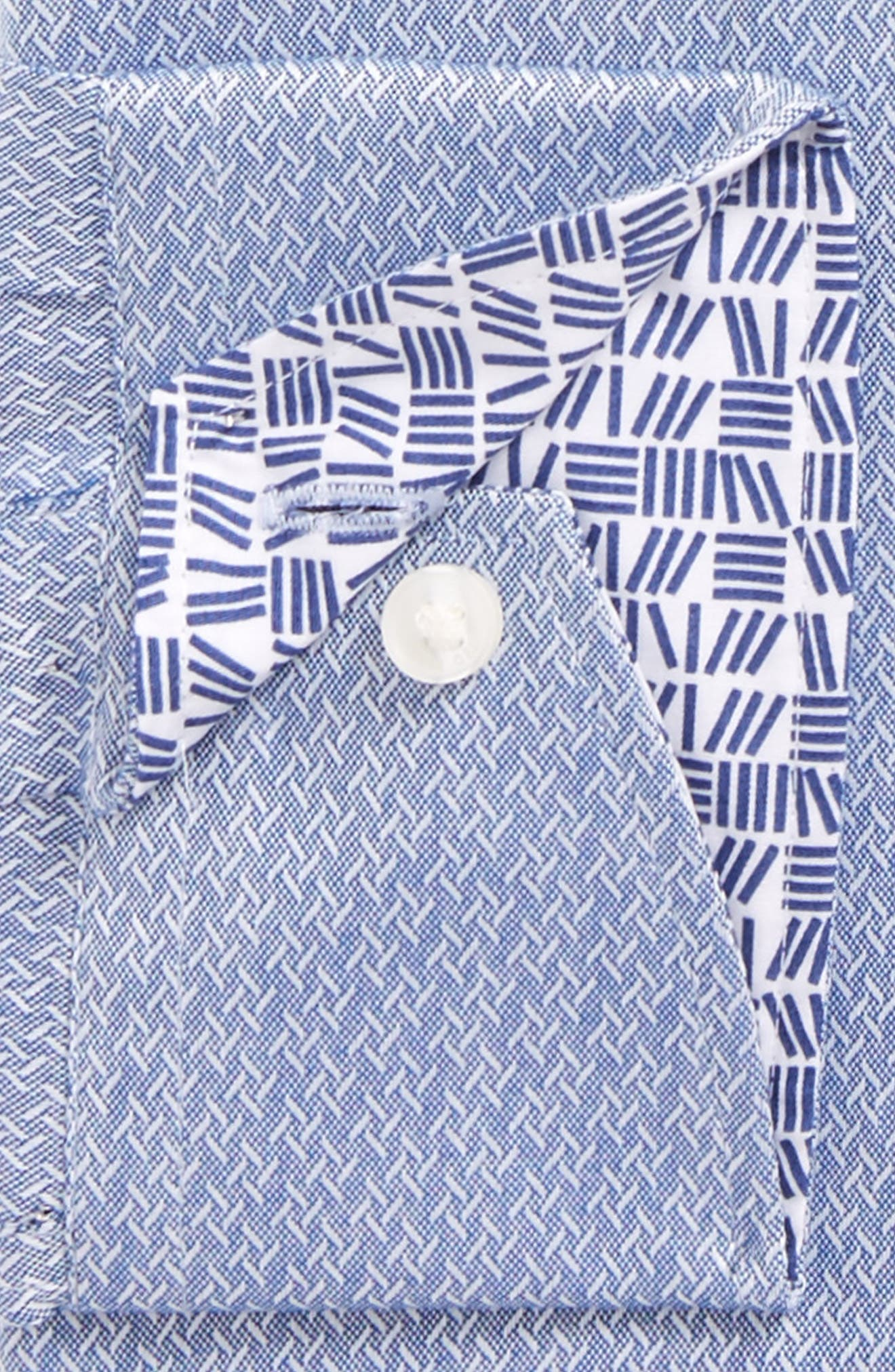 Endurance Driss Slim Fit Geometric Oxford Dress Shirt,                             Alternate thumbnail 2, color,                             NAVY