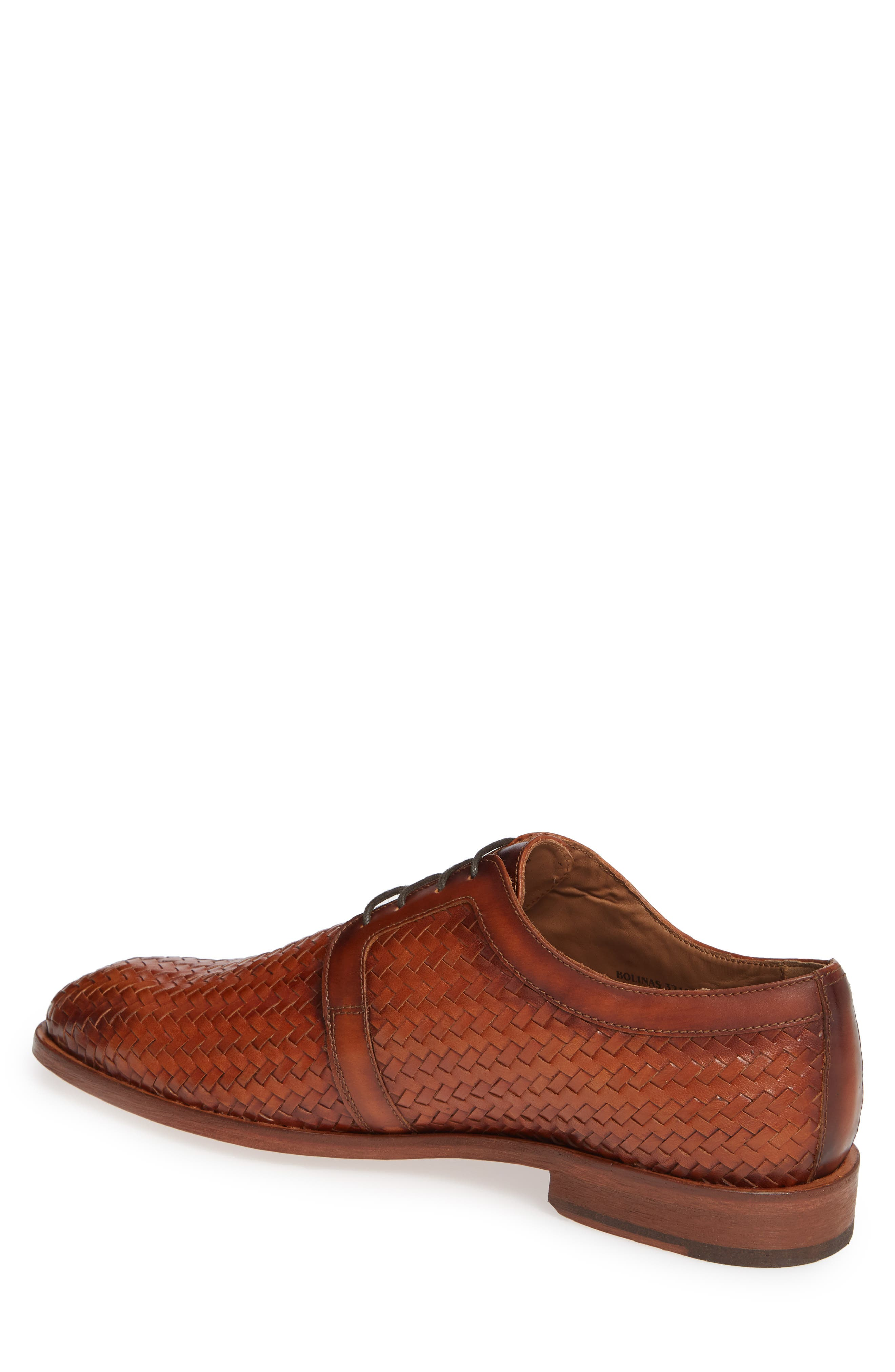 Bolinas True Woven Derby,                             Alternate thumbnail 2, color,                             COGNAC LEATHER