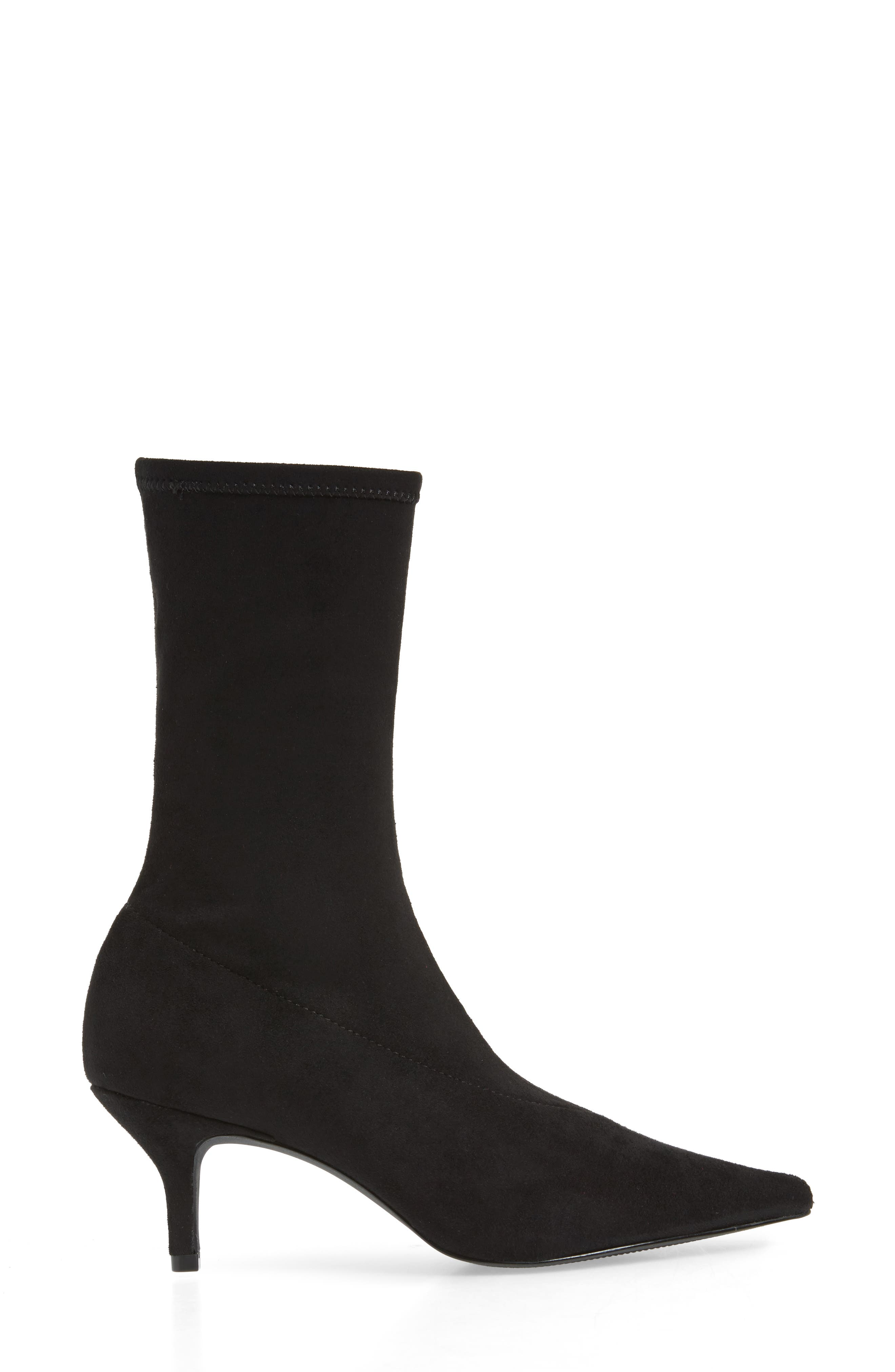 Ramone Floral Sock Bootie,                             Alternate thumbnail 3, color,                             001
