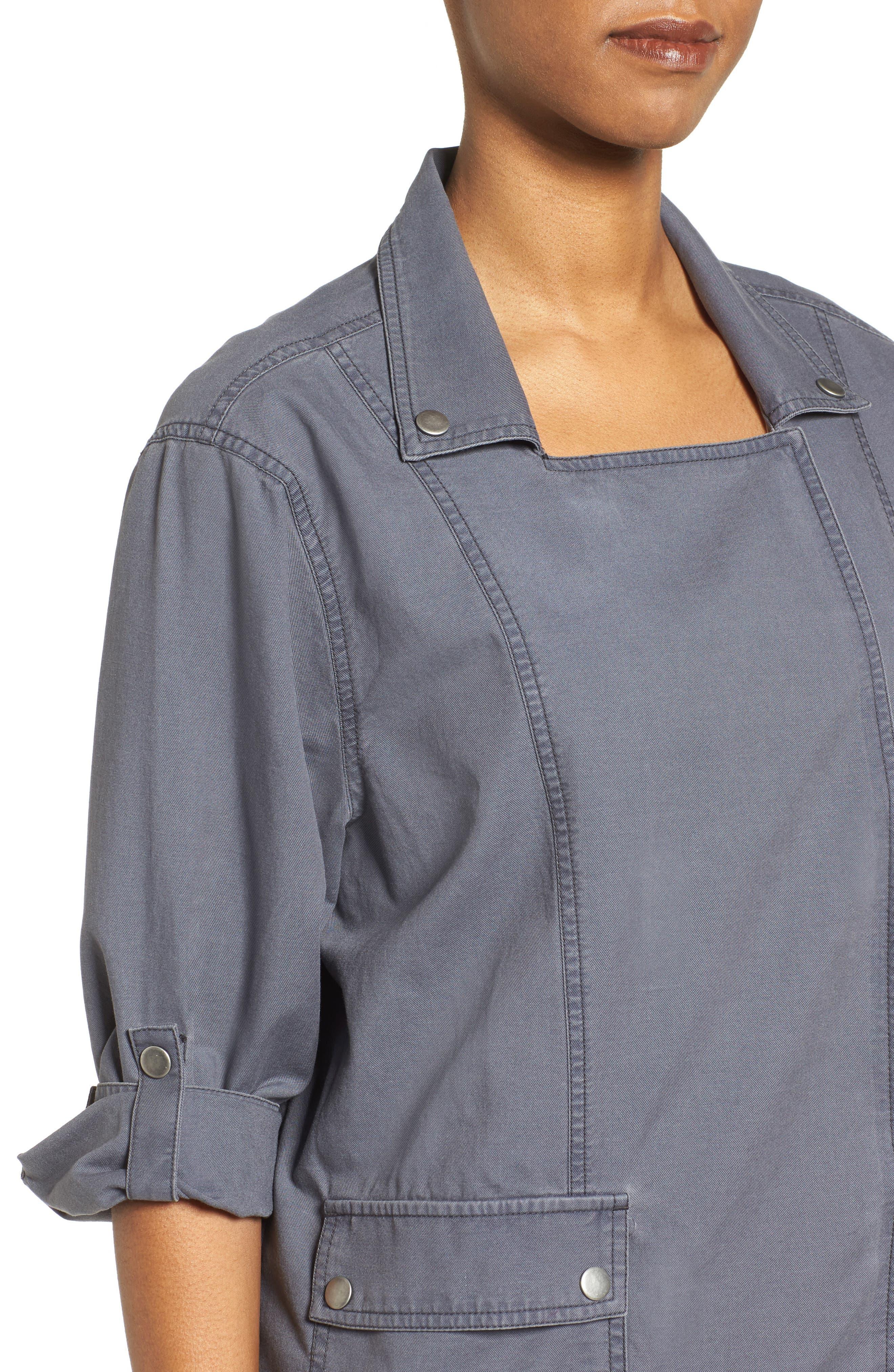 Roll Sleeve Utility Jacket,                             Alternate thumbnail 4, color,                             030