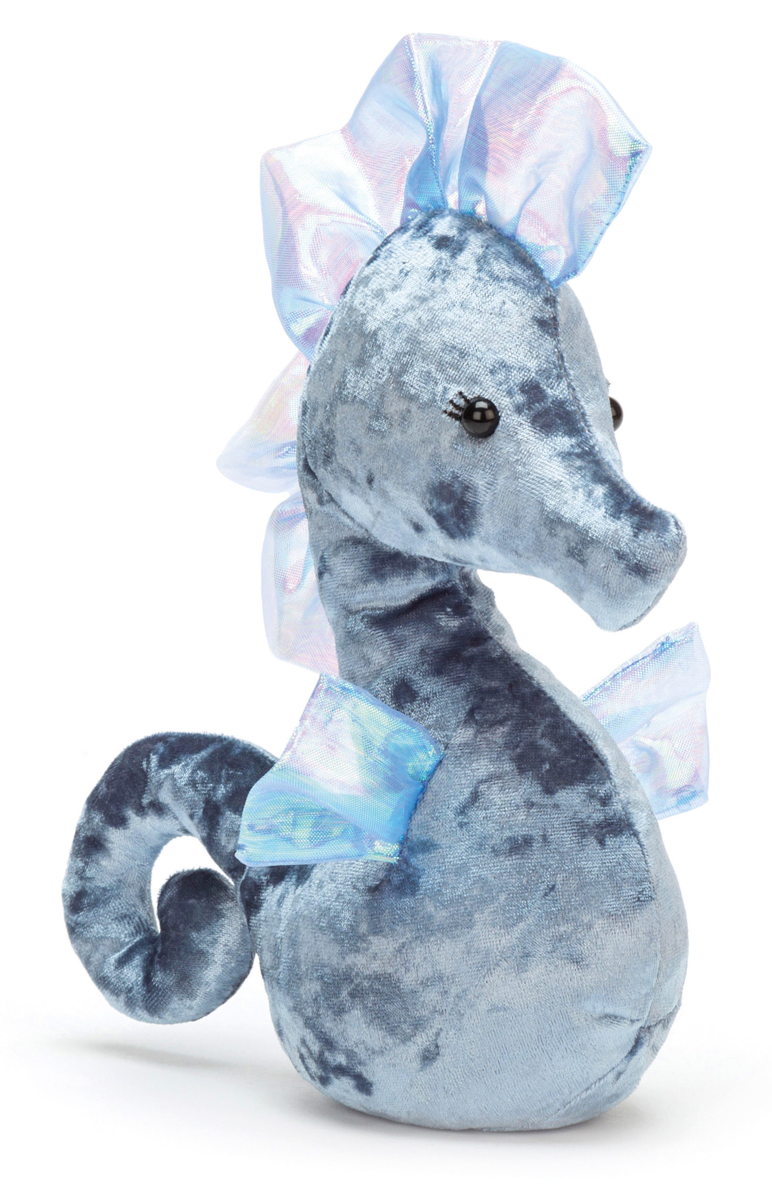 Coral Cuties Blue Seahorse Stuffed Animal,                             Main thumbnail 1, color,                             450