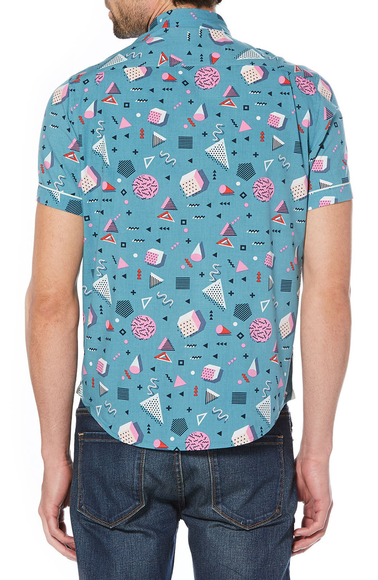Print Woven Shirt,                             Alternate thumbnail 2, color,                             460