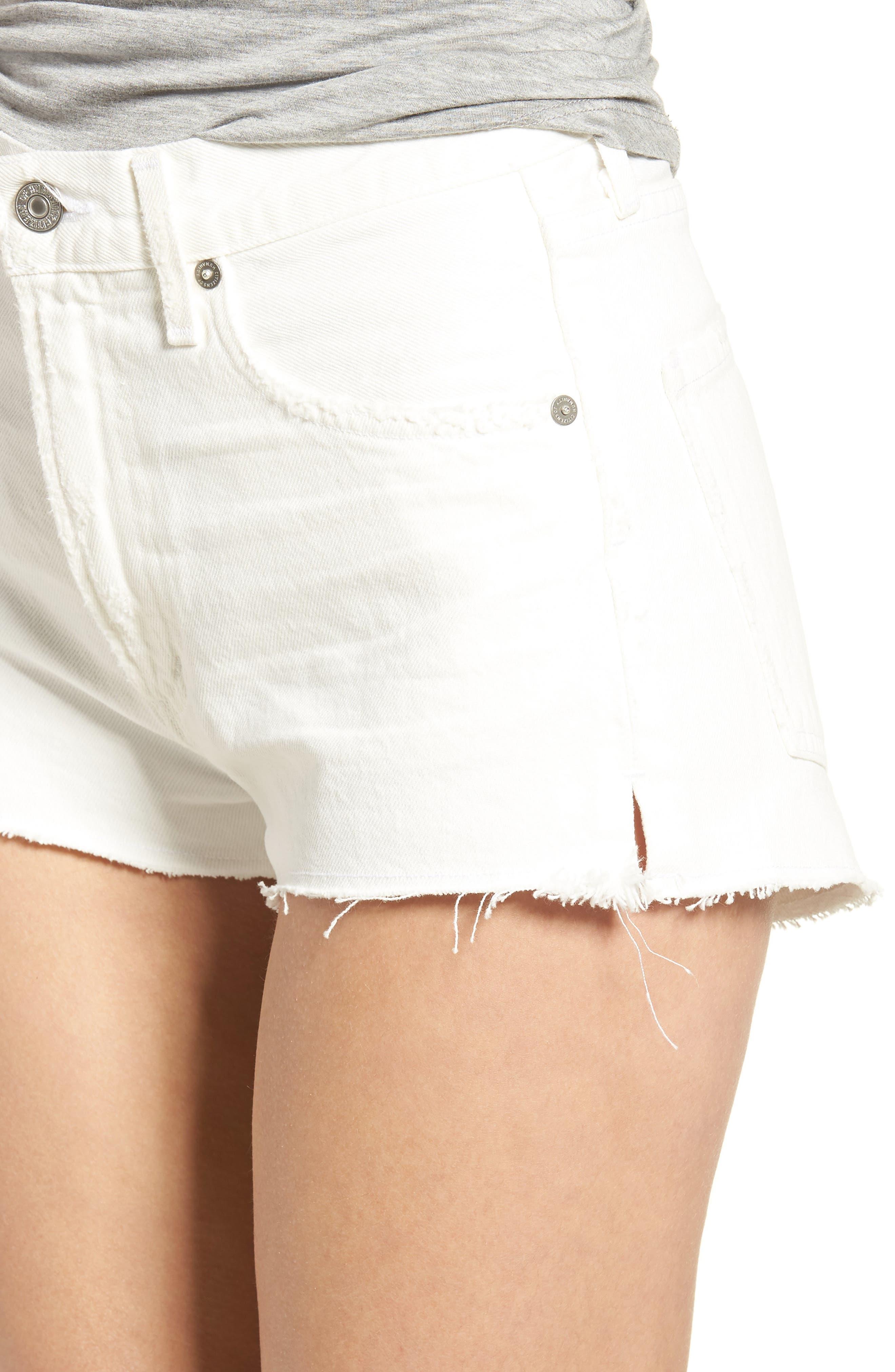 Danielle Cutoff Denim Shorts,                             Alternate thumbnail 4, color,