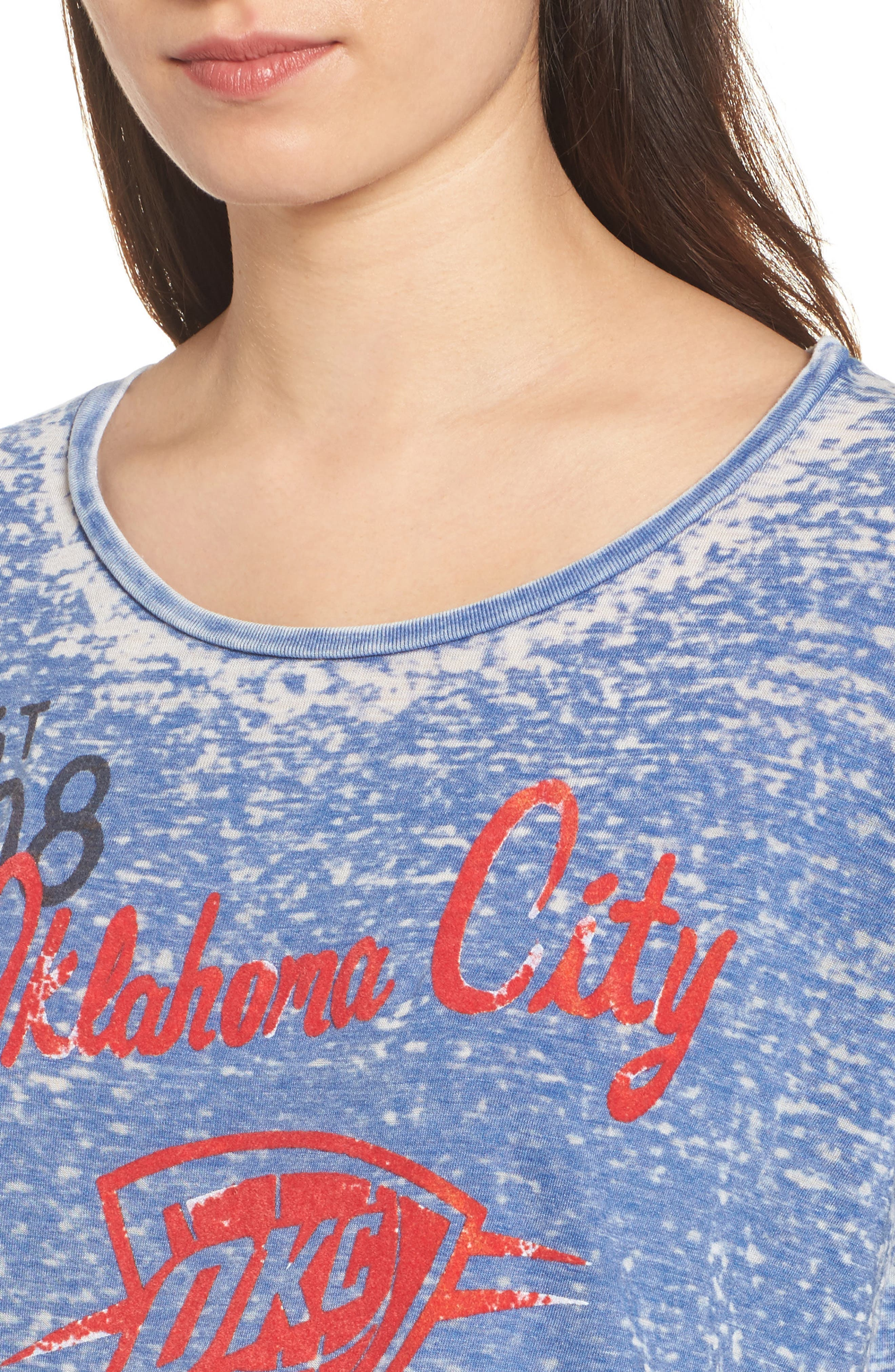 NBA Oklahoma City Thunder Burnout Tee,                             Alternate thumbnail 4, color,                             497