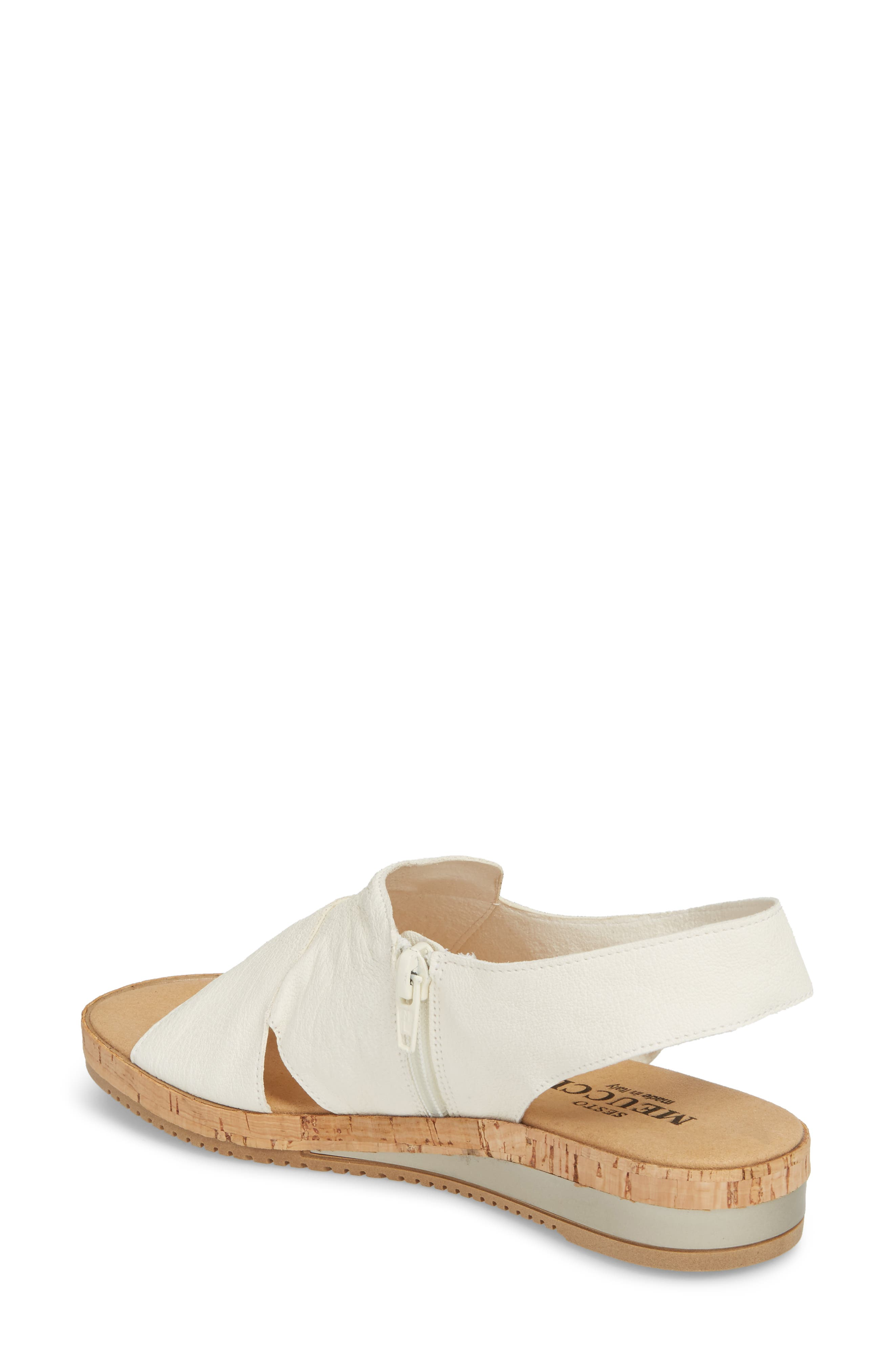 Sylke Sandal,                             Alternate thumbnail 2, color,                             WHITE LEATHER