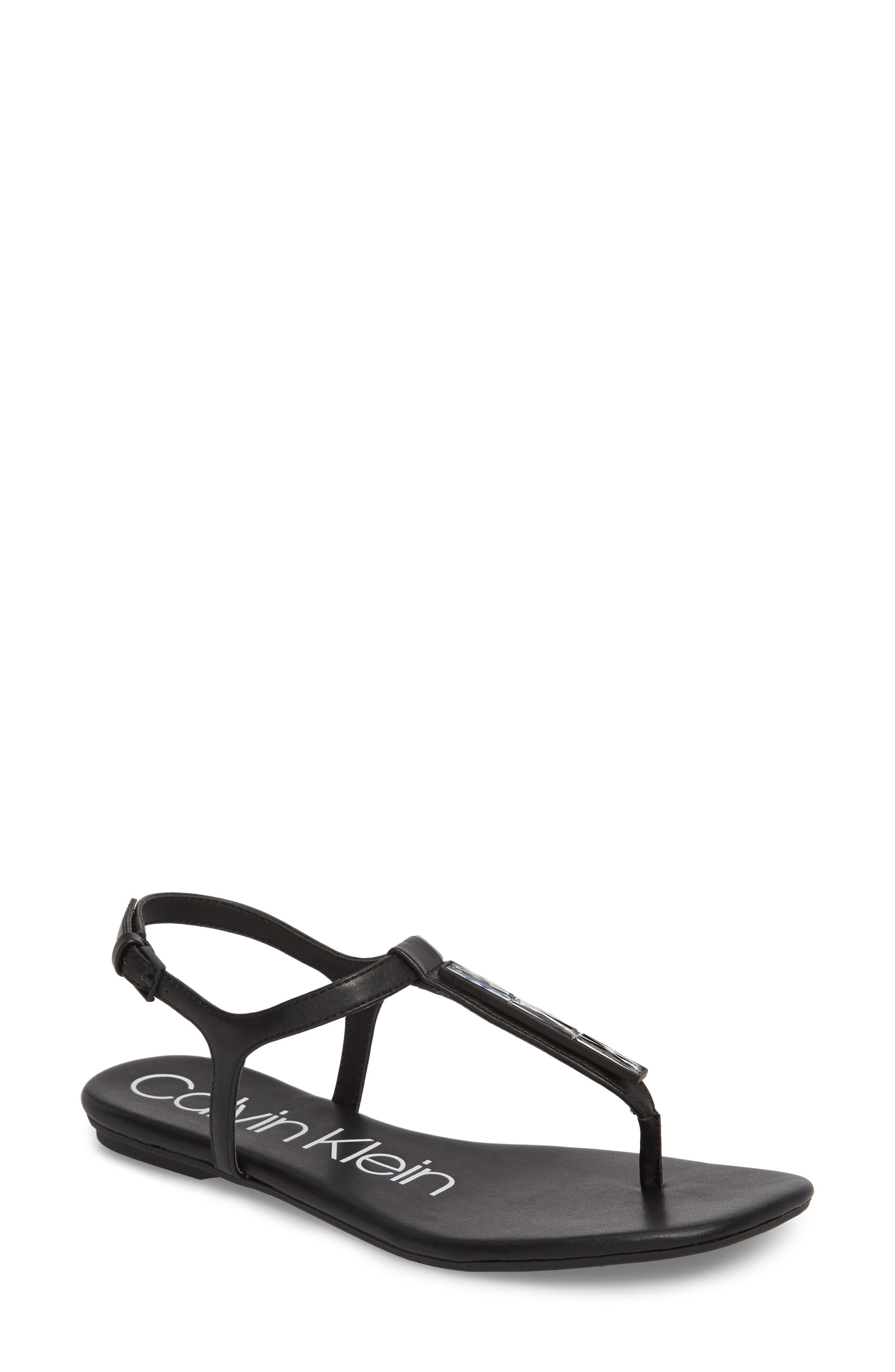 CALVIN KLEIN Sharene Sandal, Main, color, 001