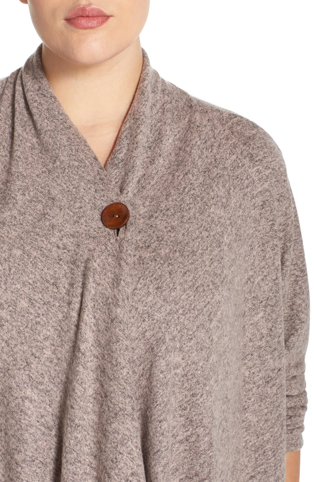 One-Button Fleece Cardigan,                             Alternate thumbnail 96, color,