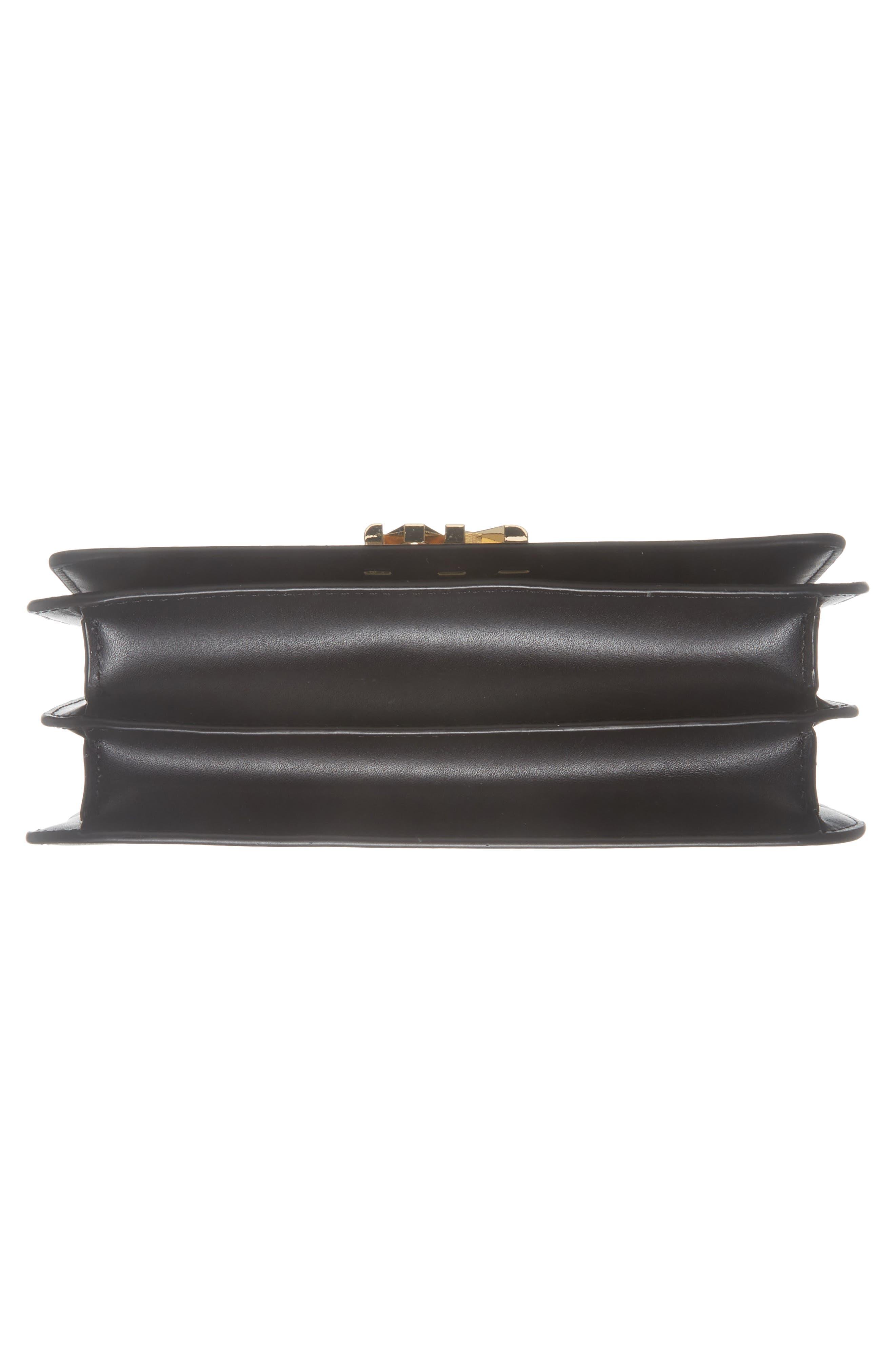 Large Mott Chain Swag Leather Shoulder Bag,                             Alternate thumbnail 6, color,                             001
