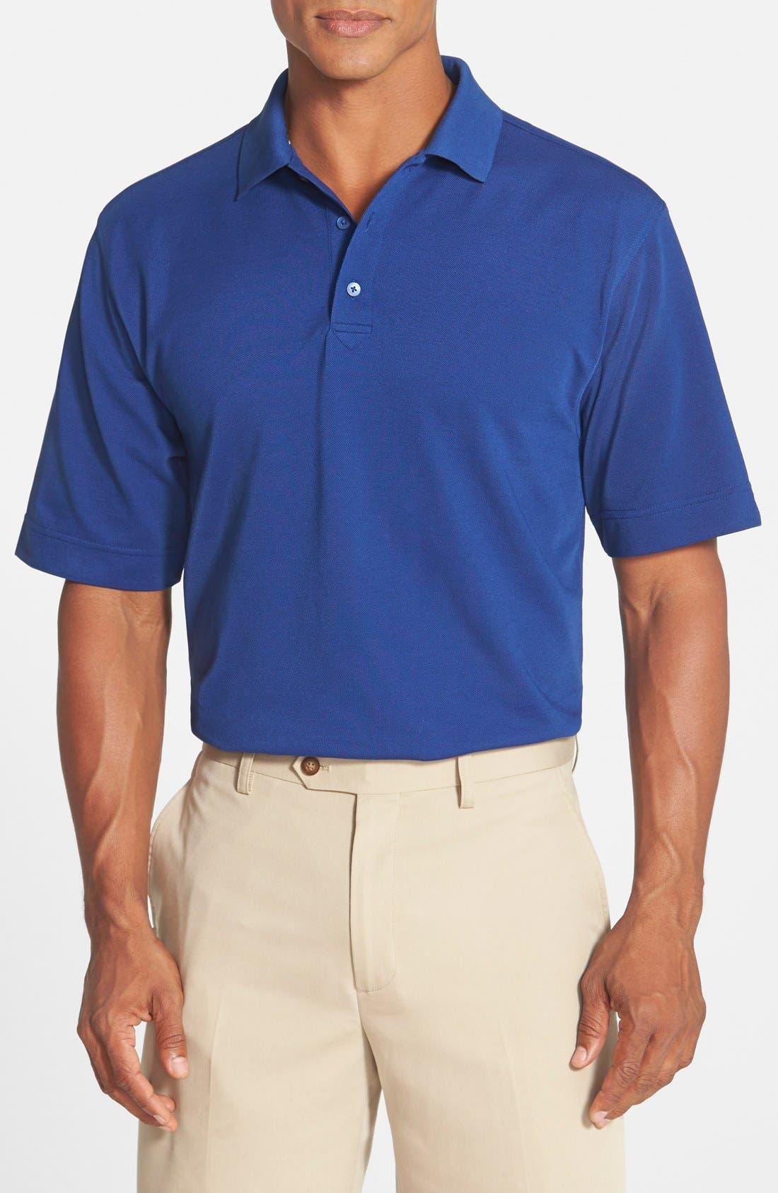 'Championship' Classic Fit DryTec Golf Polo,                             Main thumbnail 1, color,                             TOUR BLUE