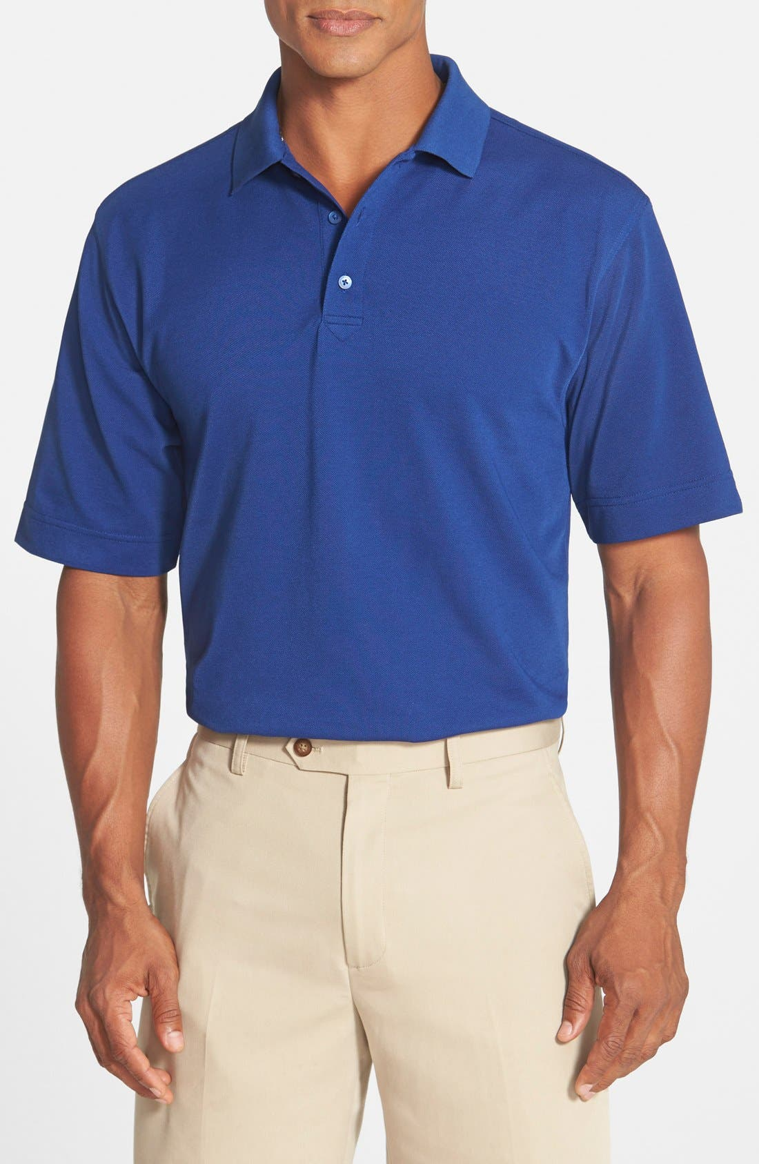 'Championship' Classic Fit DryTec Golf Polo,                         Main,                         color, TOUR BLUE