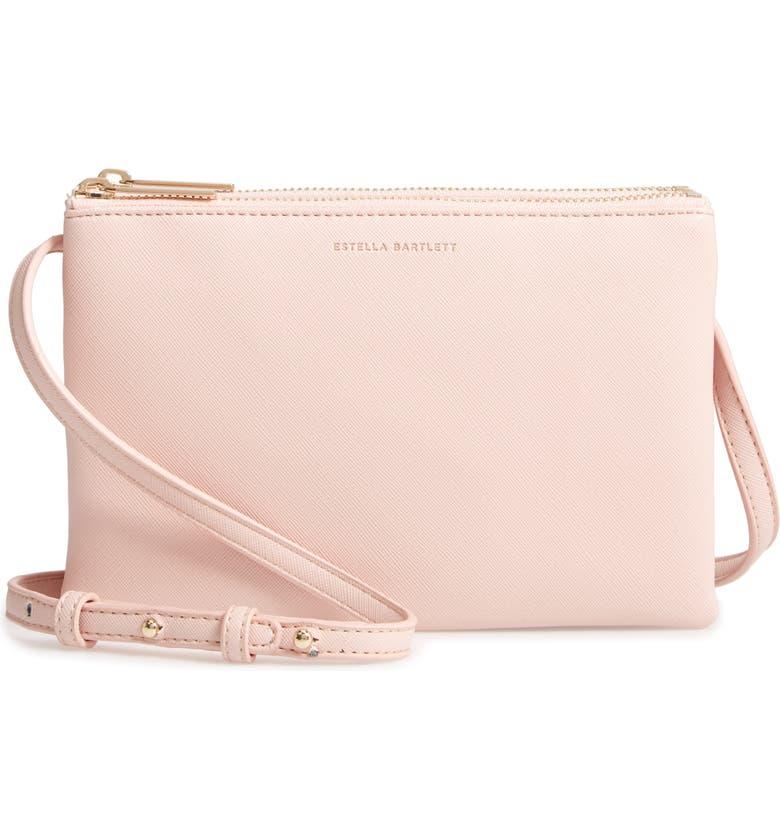 Estella Bartlett Double Faux Leather Crossbody Bag - Pink In Blush ... dc08943701