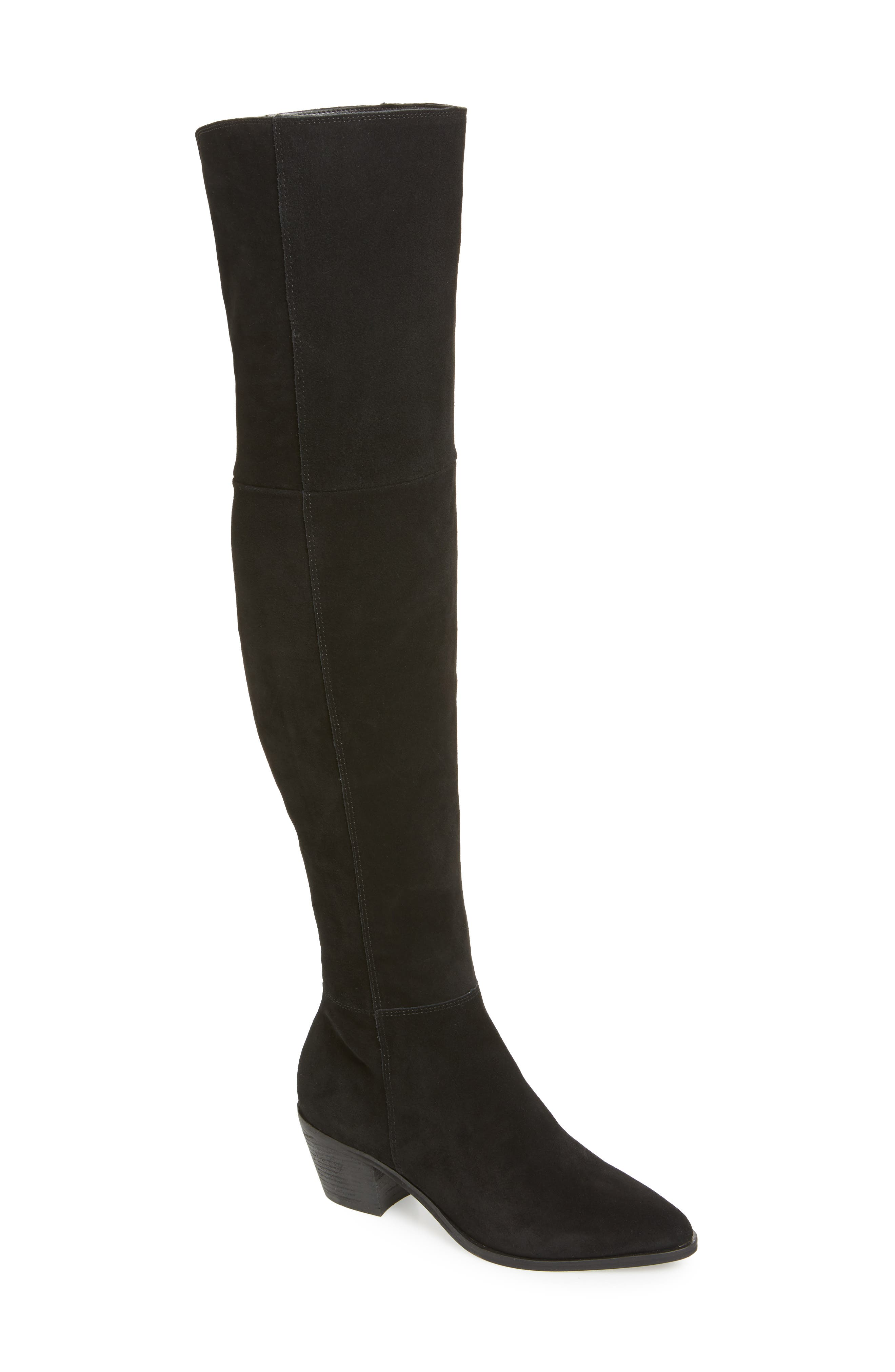 Lucca Pieced Over the Knee Boot,                             Main thumbnail 1, color,                             006