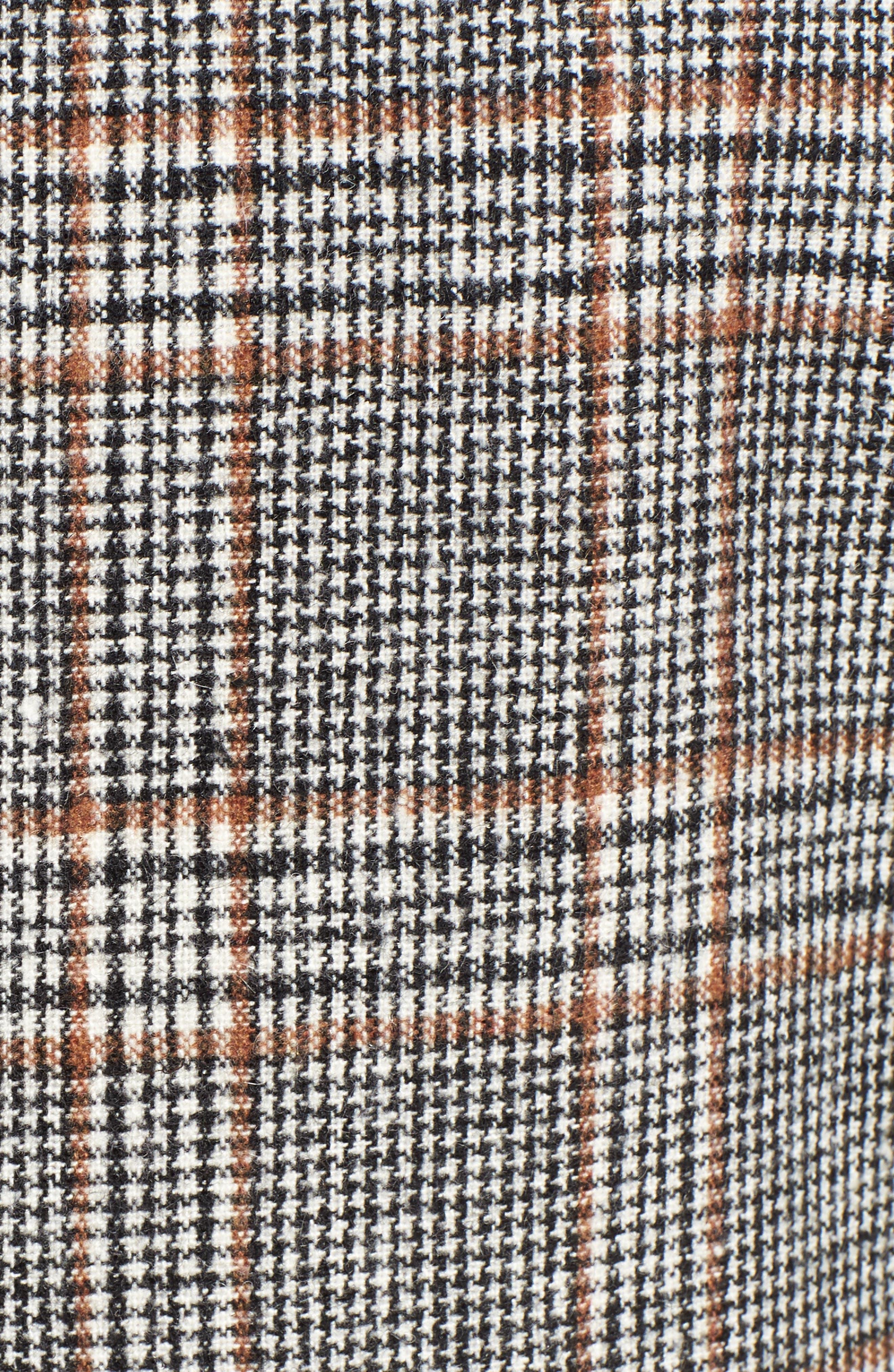 MURAL,                             Blazer Midi Coat,                             Alternate thumbnail 6, color,                             001