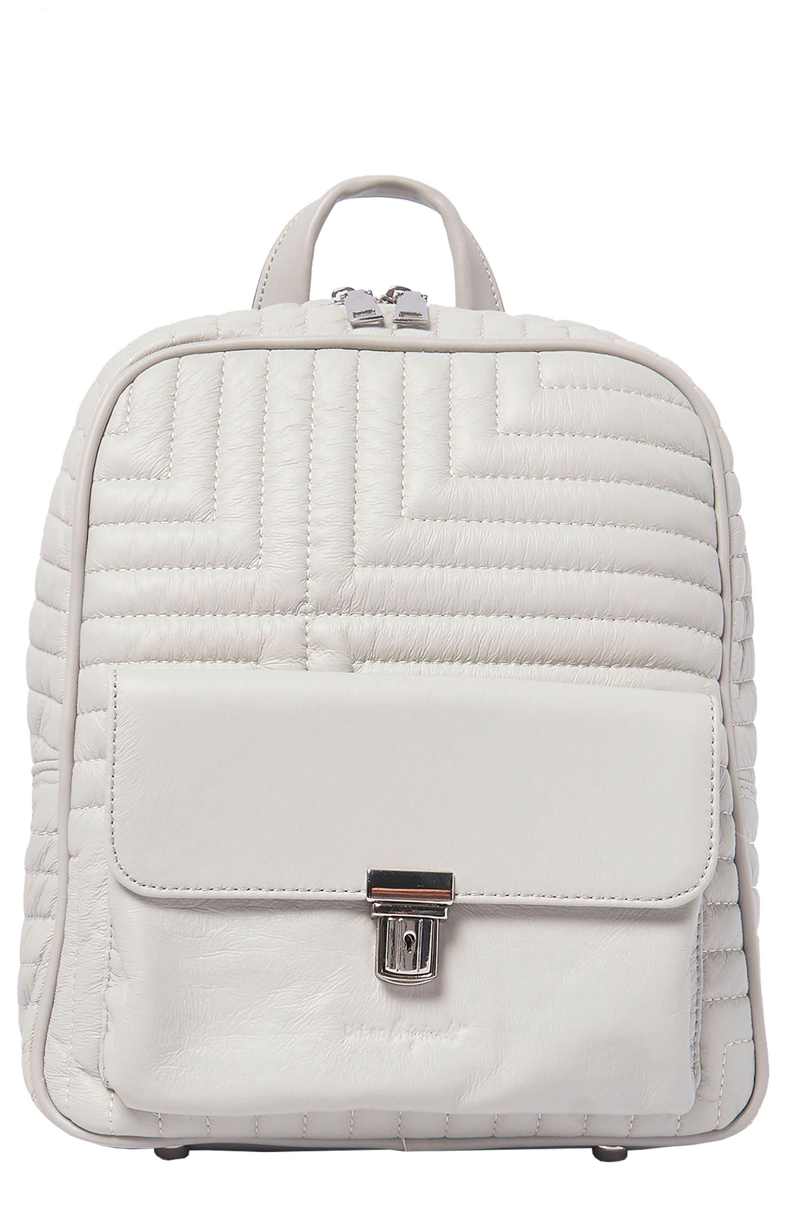 Essential Vegan Leather Backpack in Grey
