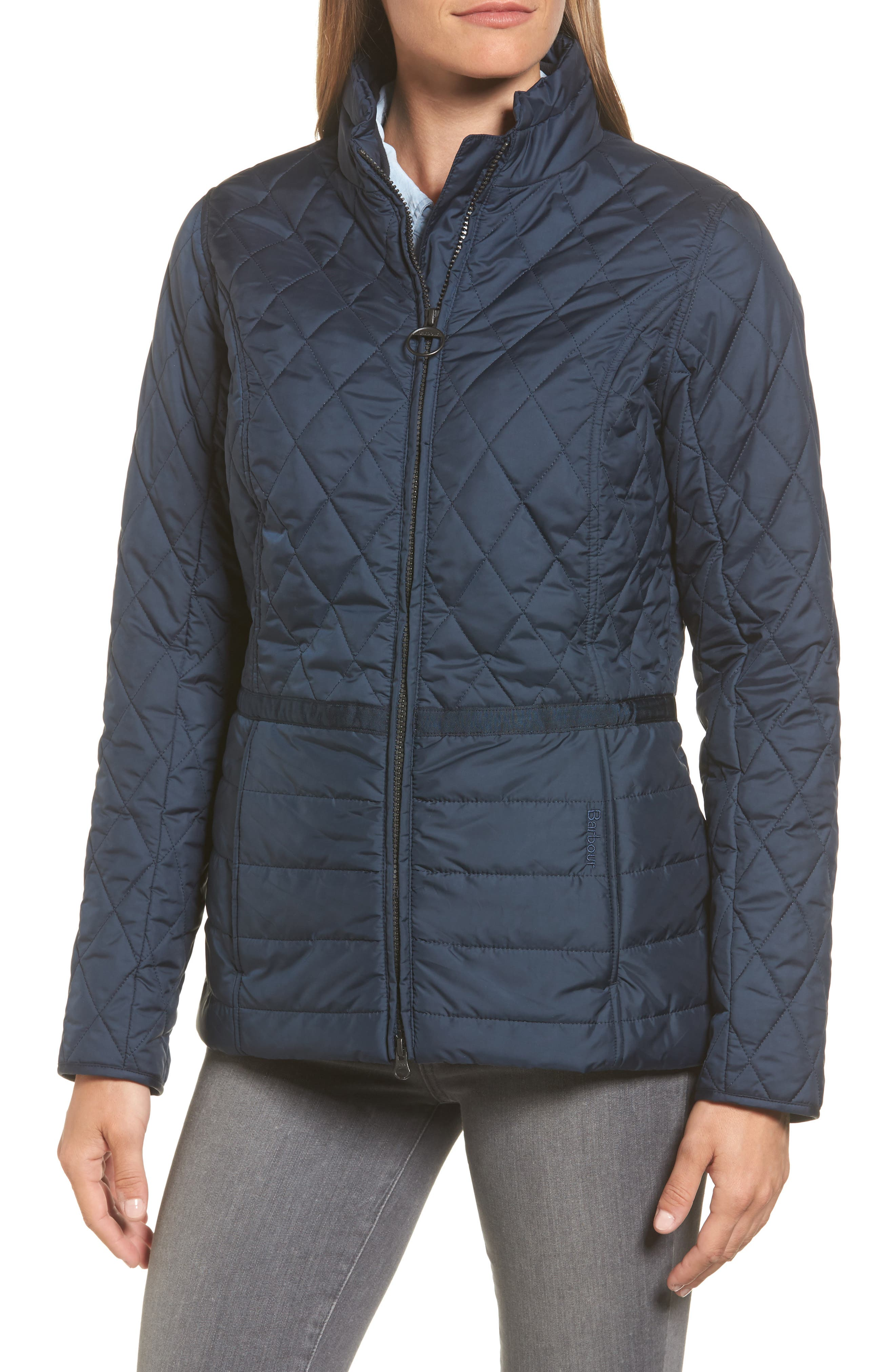 Water Resistant Quilted Jacket,                             Alternate thumbnail 8, color,