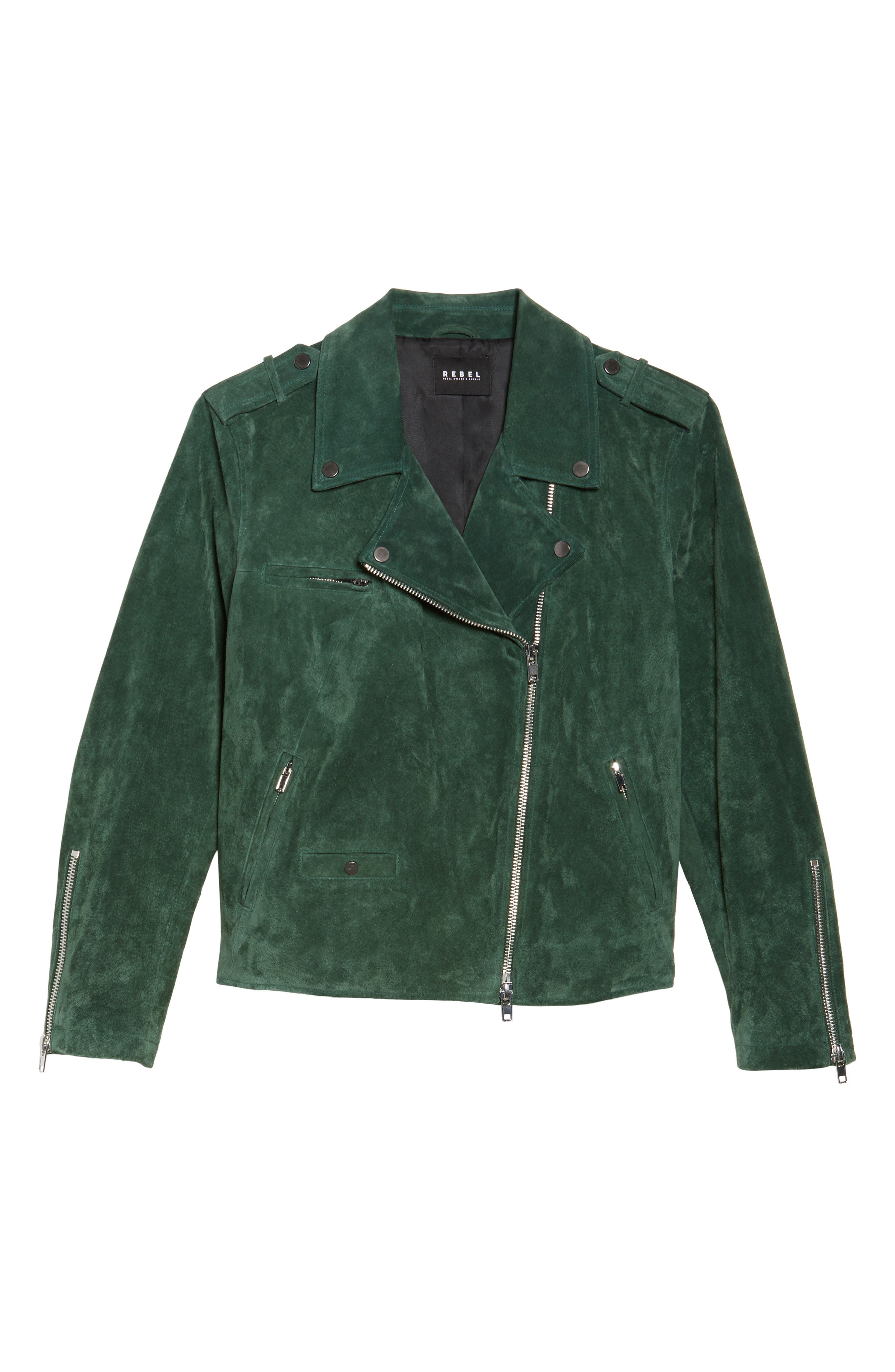 Suede Moto Jacket,                             Alternate thumbnail 14, color,