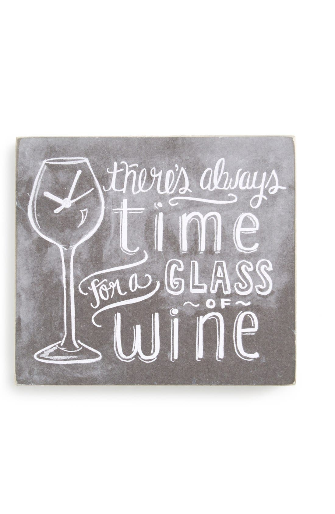 'There's Always Time for a Glass of Wine' Box Sign, Main, color, 001