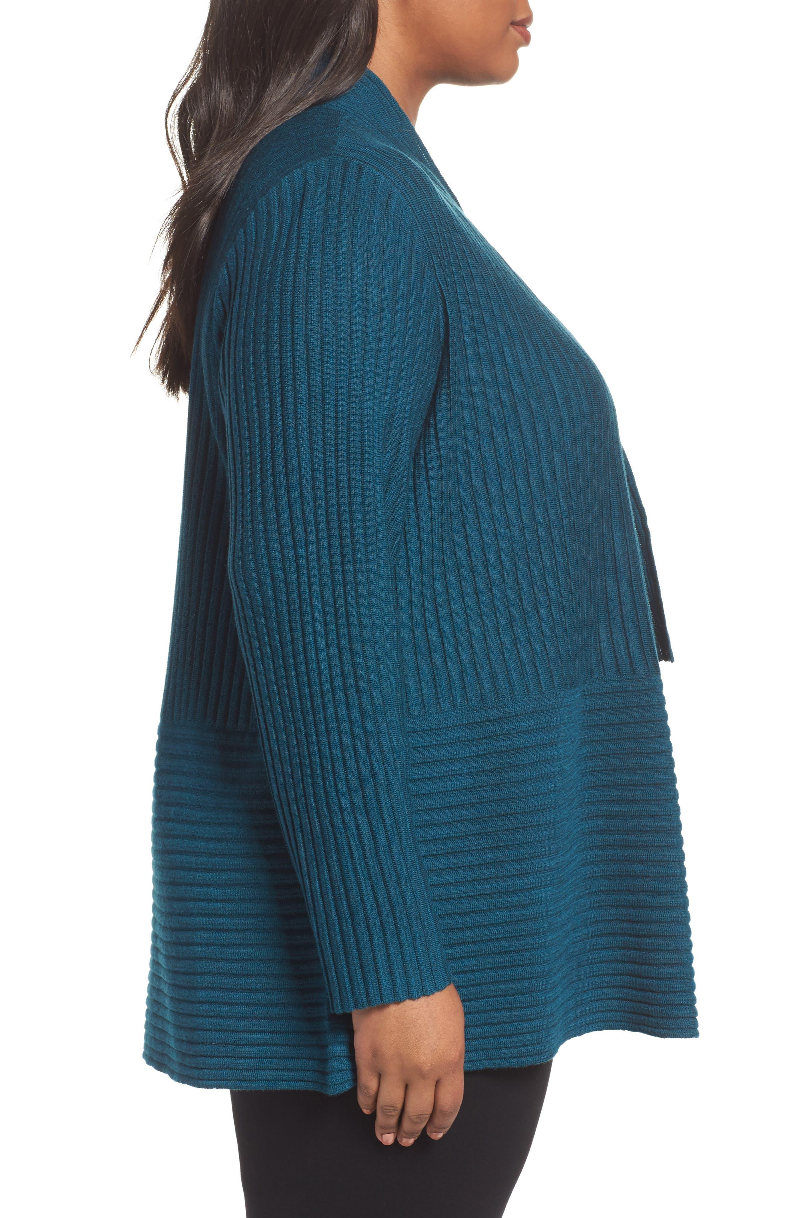 Ribbed Merino Wool Long Cardigan,                             Alternate thumbnail 12, color,