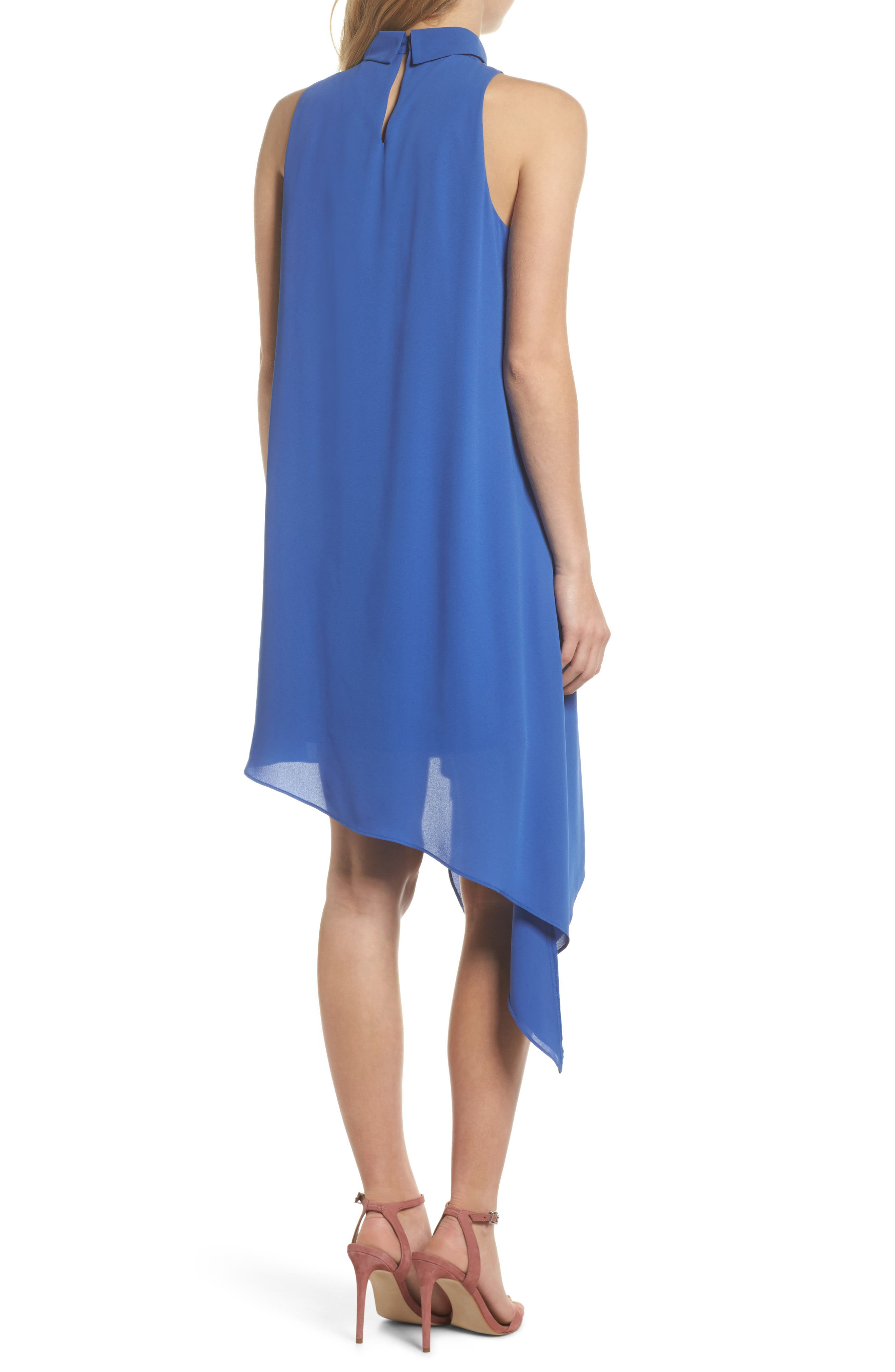 Asymmetric Hem Shift Dress,                             Alternate thumbnail 4, color,